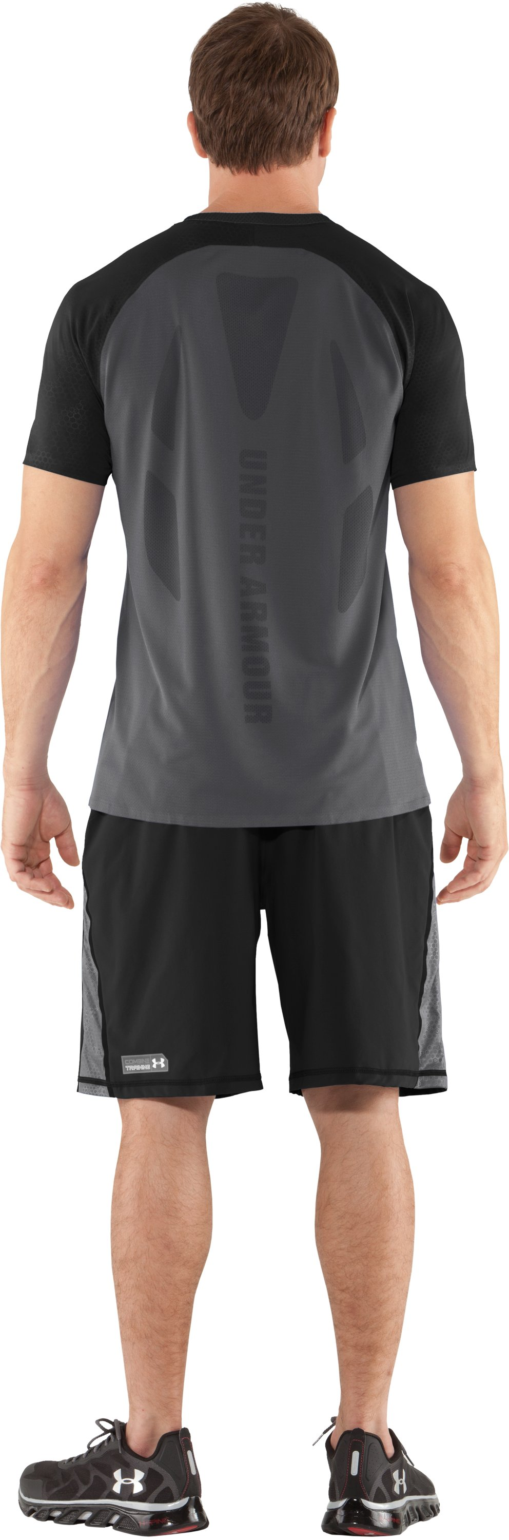 Men's UA Combine® Training Redline Short Sleeve, Graphite, Back