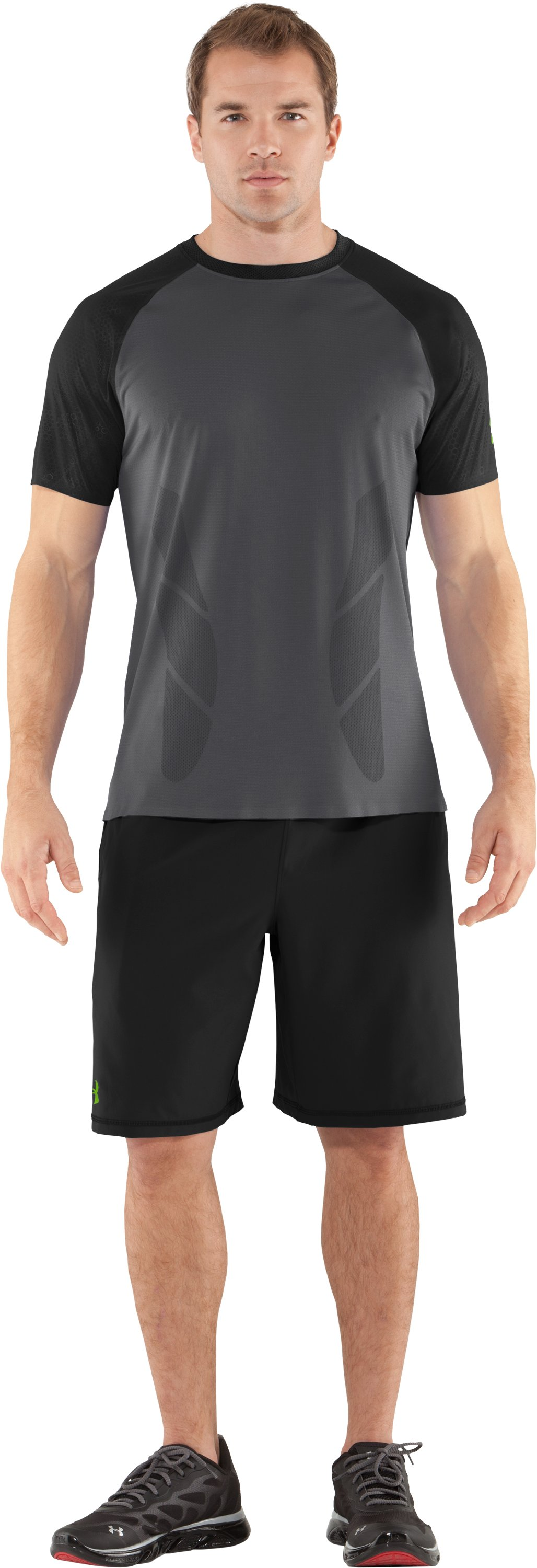 Men's UA Combine® Training Redline Short Sleeve, Graphite, zoomed image