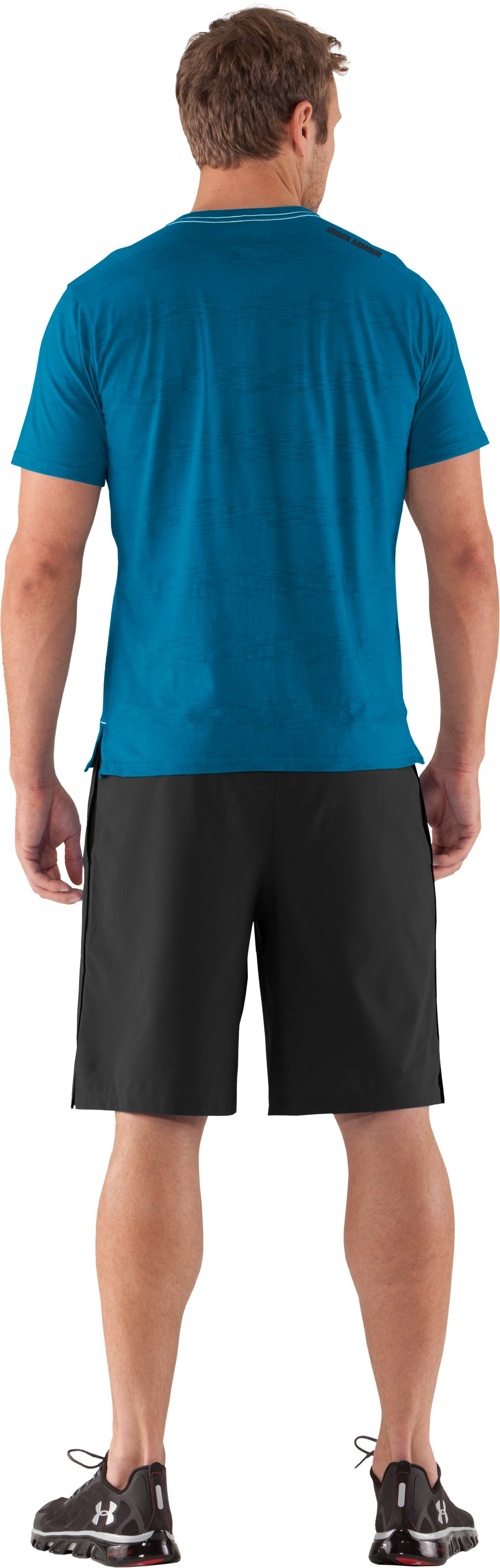 Men's UA Slub Stripe T-Shirt, SNORKEL, Back