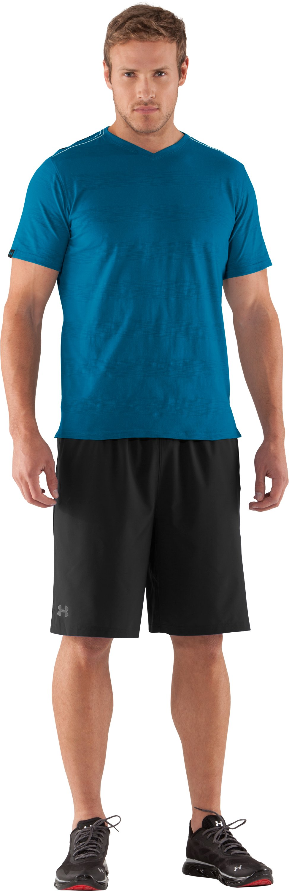 Men's UA Slub Stripe T-Shirt, SNORKEL, zoomed image