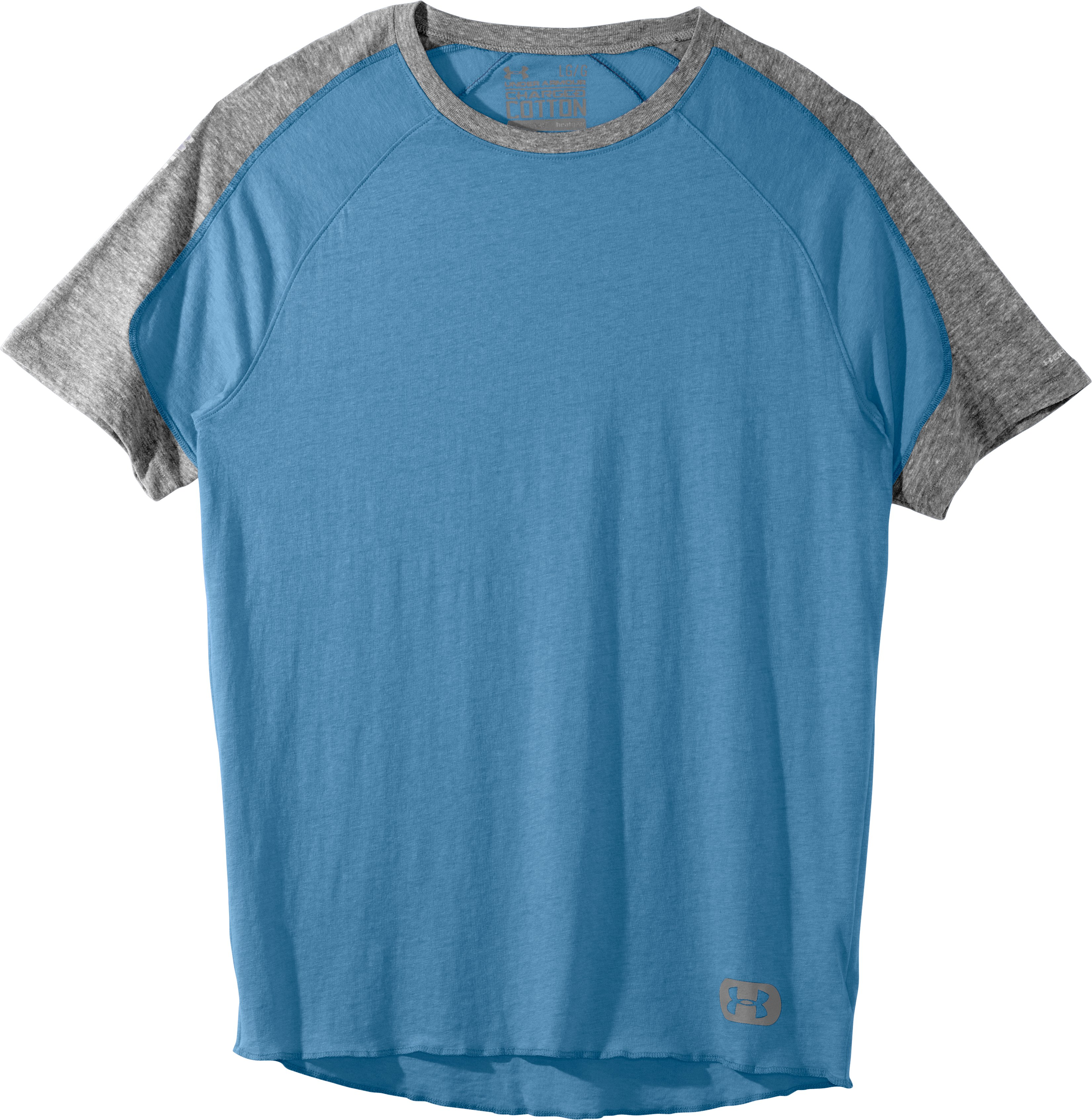 Men's Charged Cotton® Contender T-Shirt, Water, Laydown