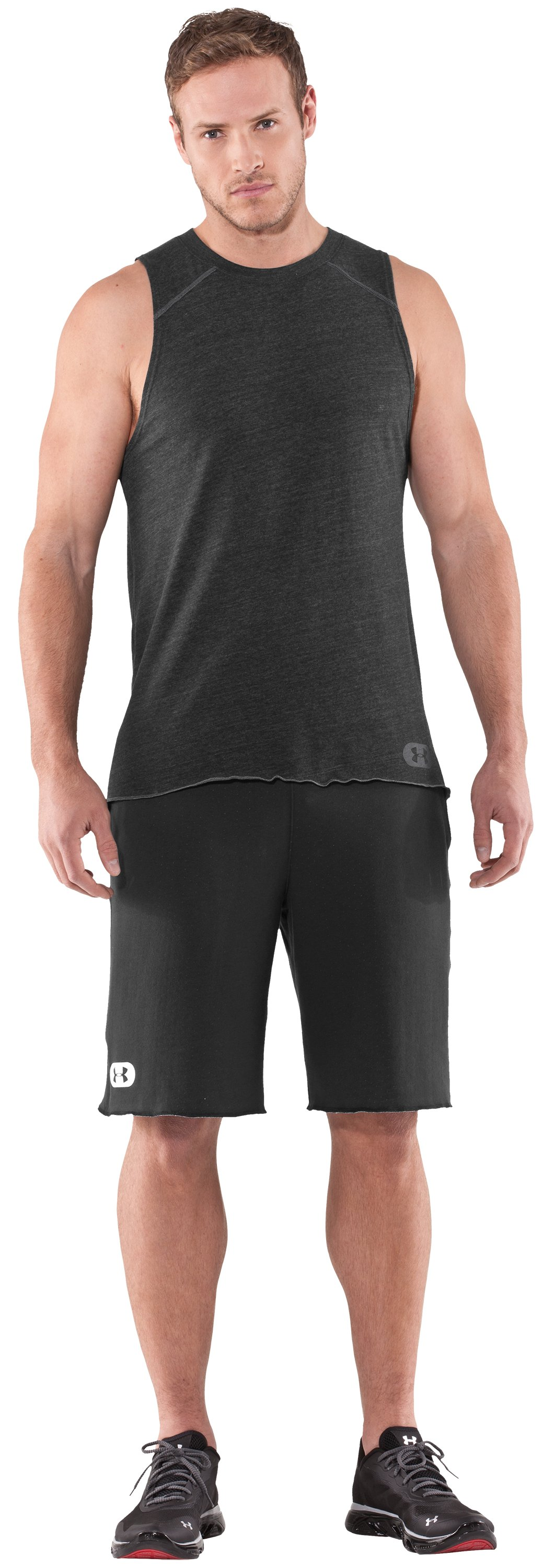 Men's Charged Cotton® Contender Tank, Asphalt Heather, Front