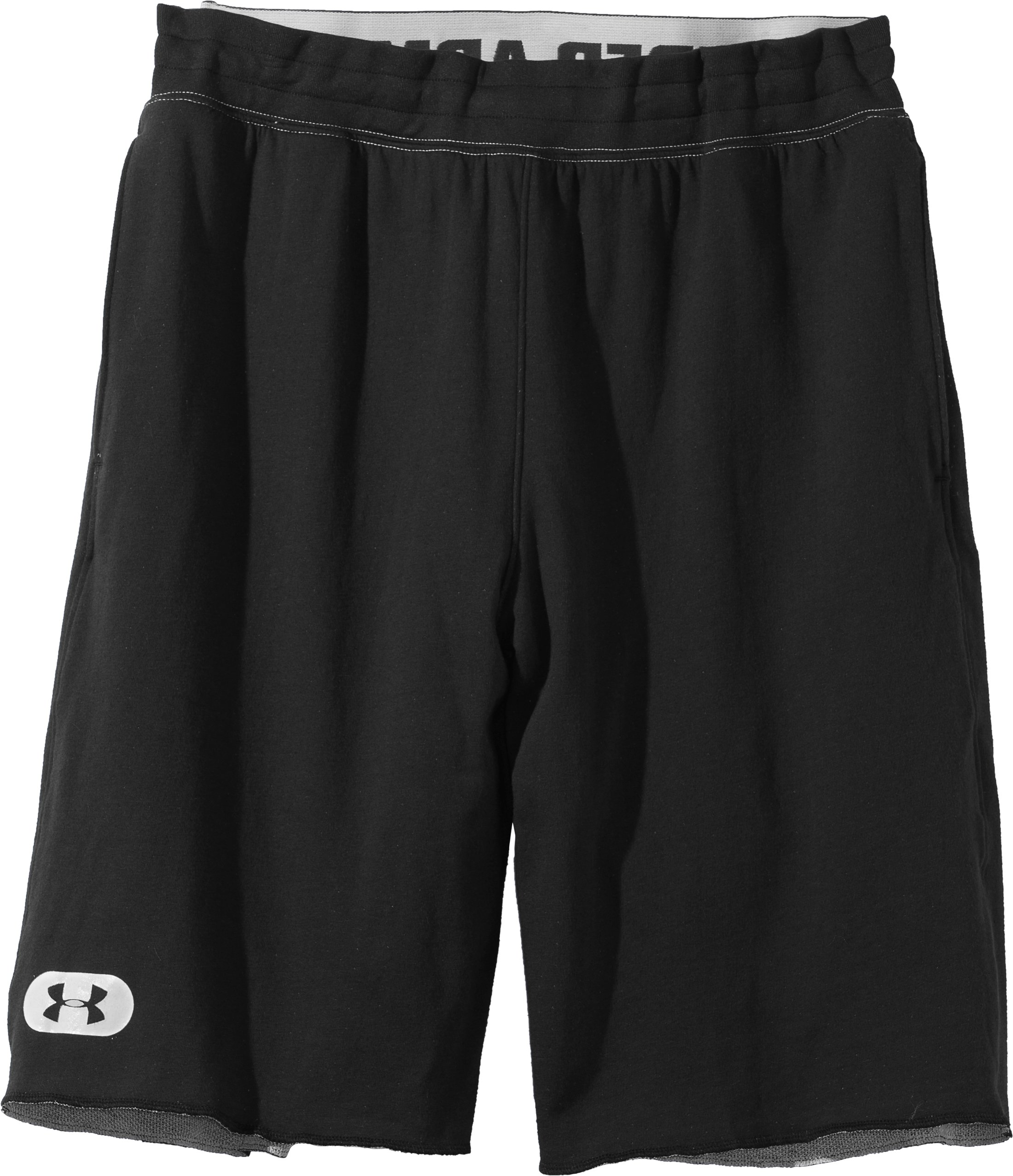 Men's Charged Cotton® Contender Shorts, Asphalt Heather, Laydown