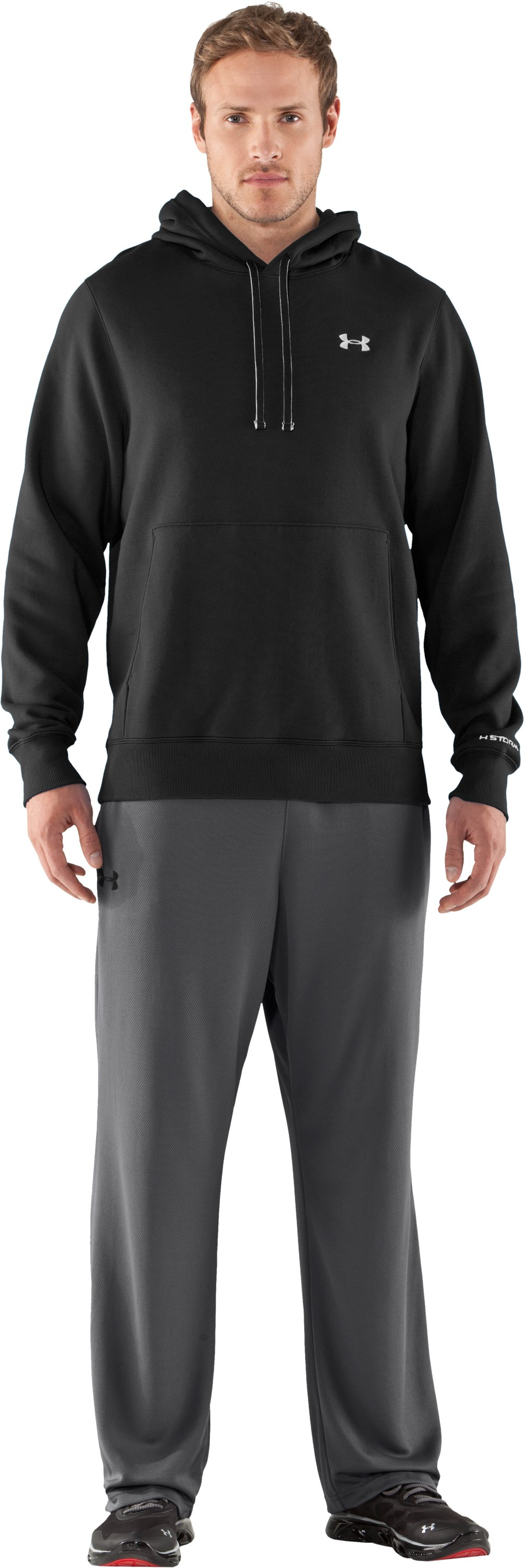 Men's Charged Cotton® Storm Transit Hoodie, Black , Front