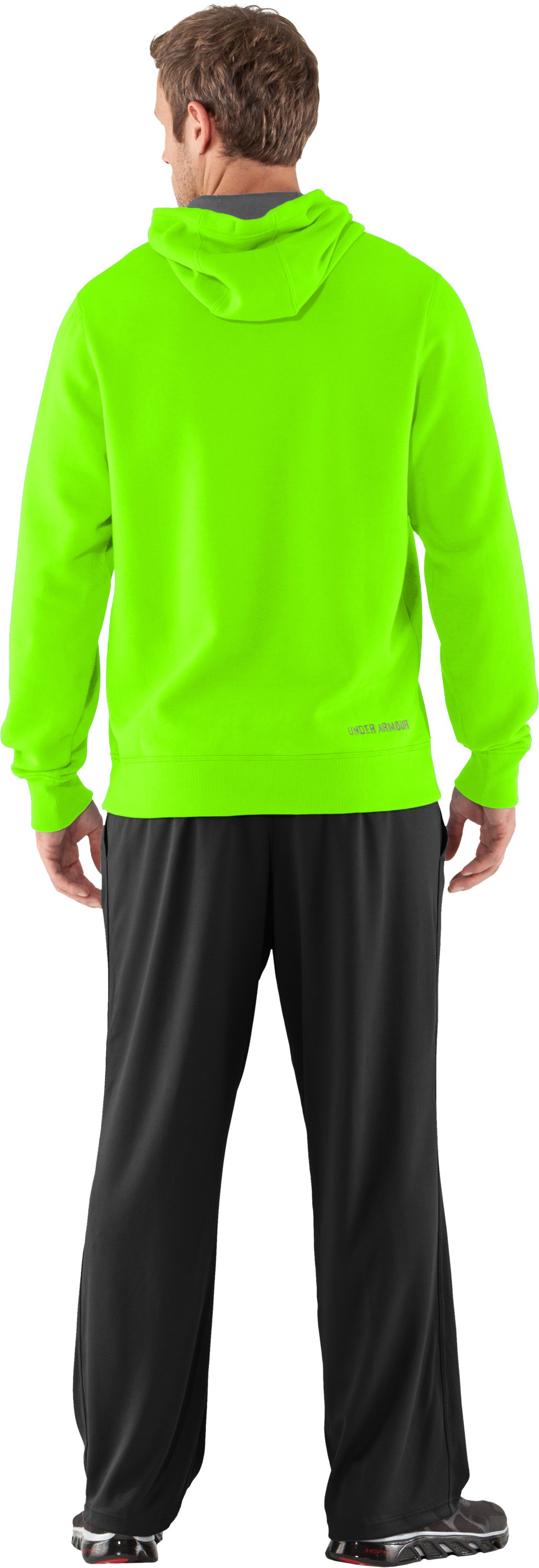 Men's Charged Cotton® Storm Transit Hoodie, HYPER GREEN, Back