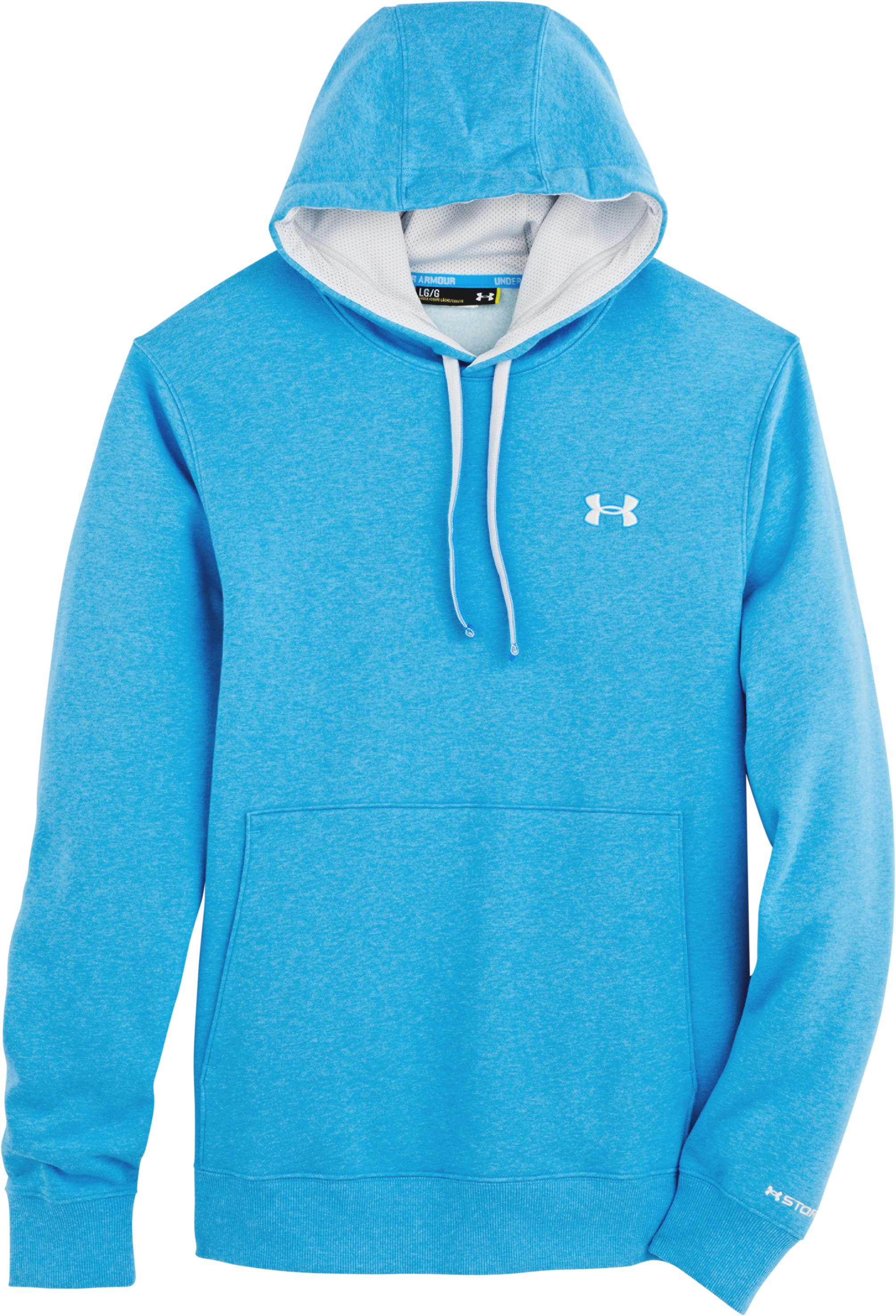 Men's Charged Cotton® Storm Transit Hoodie, ELECTRIC BLUE, Laydown