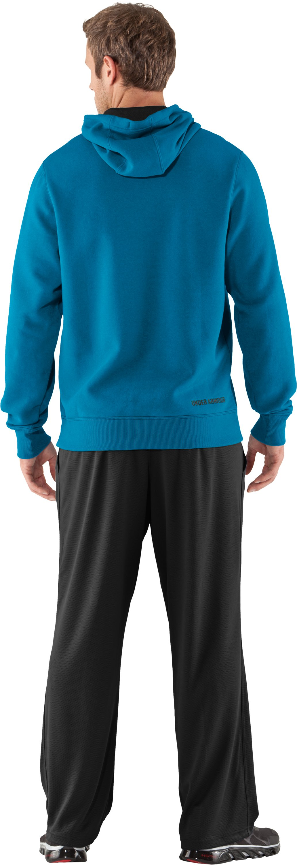Men's Charged Cotton® Storm Transit Hoodie, SNORKEL, Back