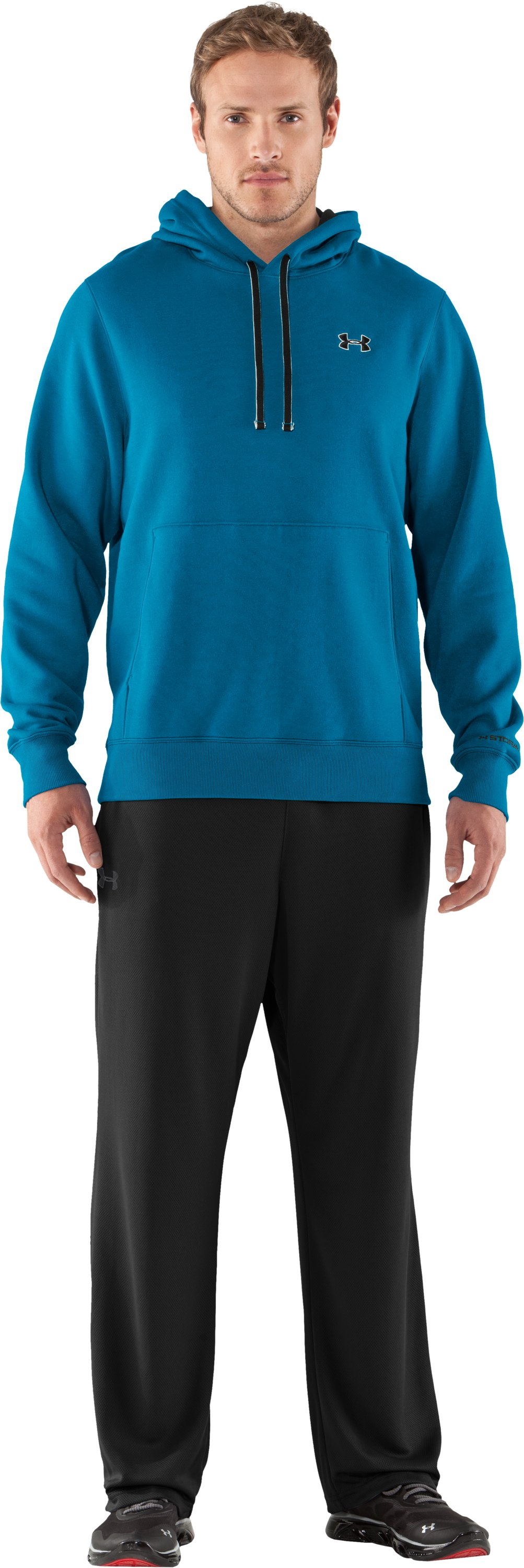 Men's Charged Cotton® Storm Transit Hoodie, SNORKEL, Front