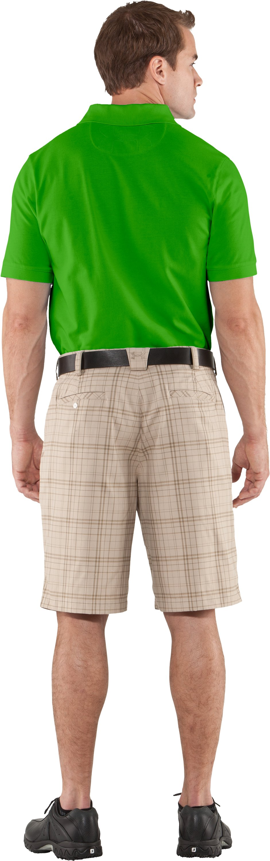 Men's Charged Cotton® Pique Polo, PARROT GREEN, Back