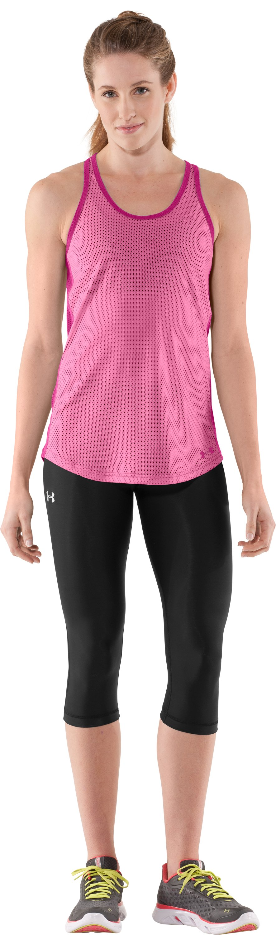 Women's UA Victory Pinney, Fluo Pink, Front