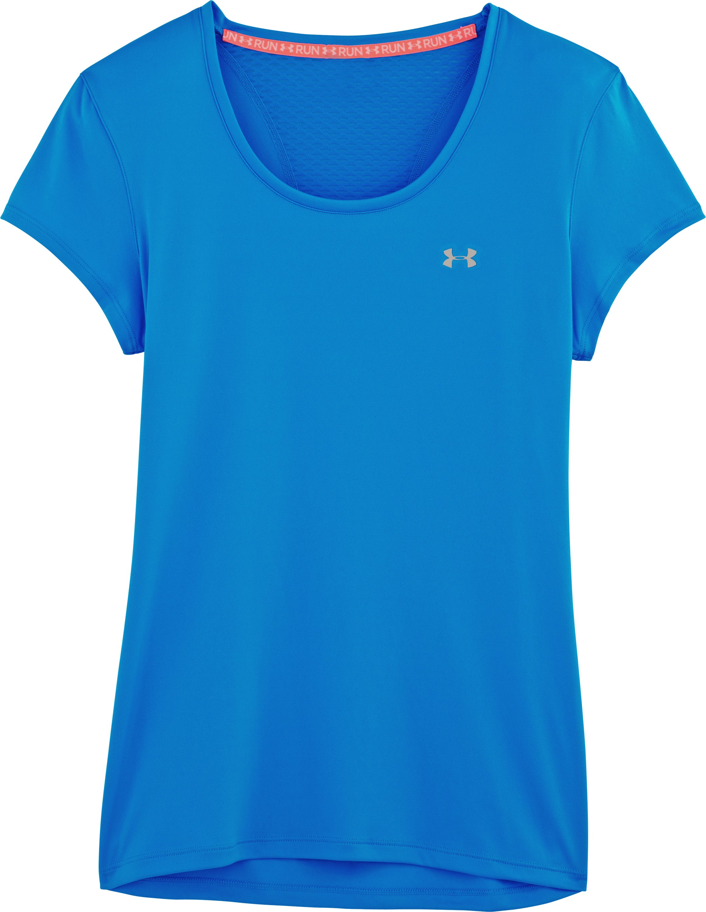 Women's UA Flyweight T-Shirt, ELECTRIC BLUE, Laydown