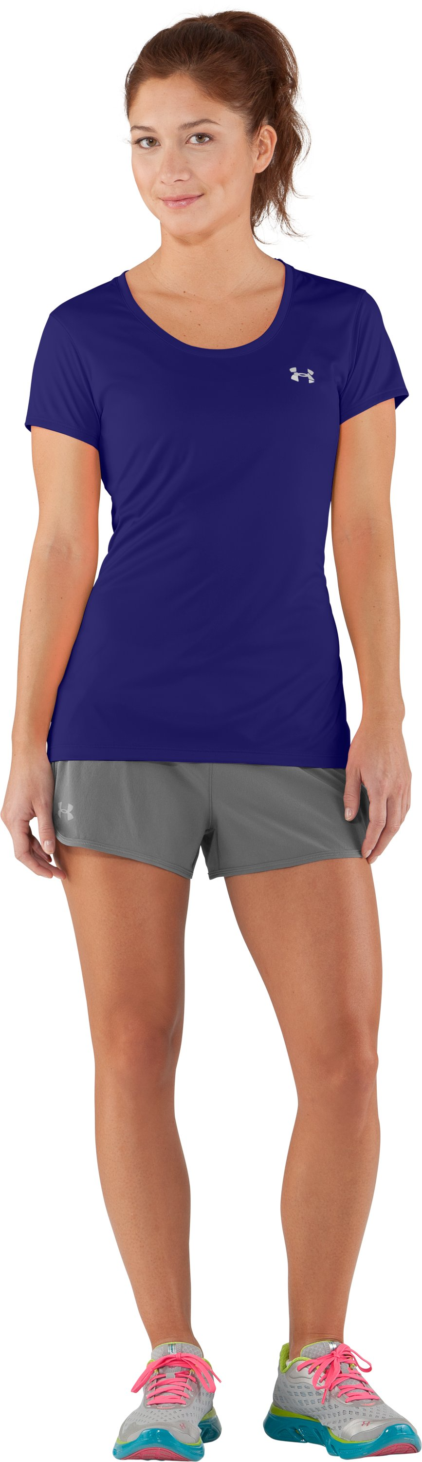 Women's UA Flyweight T-Shirt, Monarchy, Front