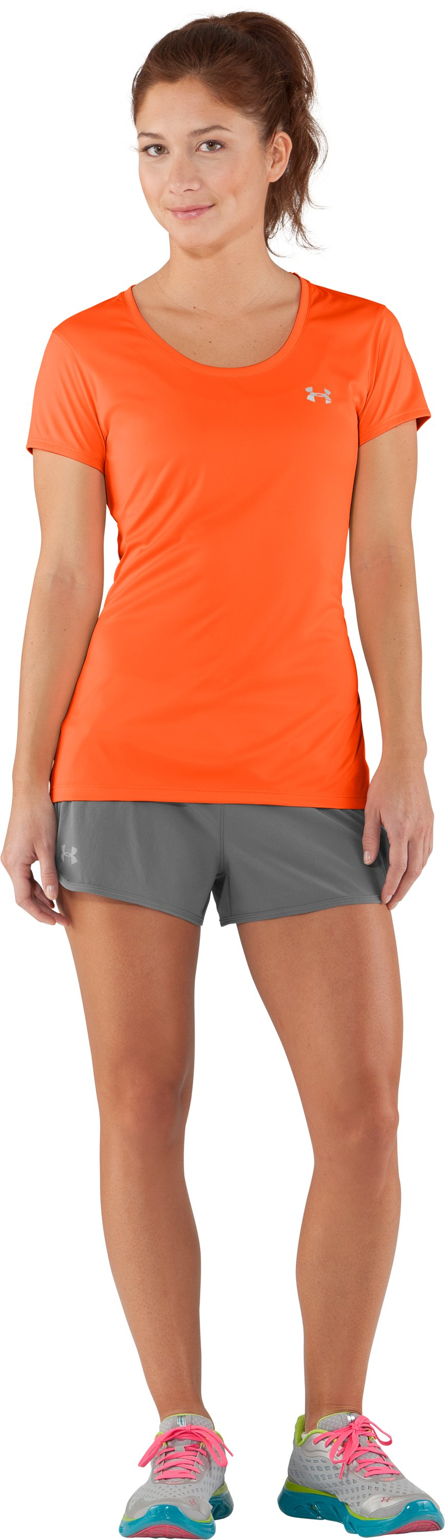 Women's UA Flyweight T-Shirt, Fire, Front