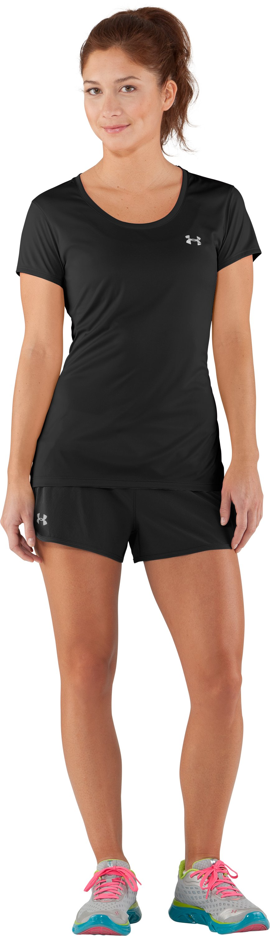 Women's UA Get Set Go Shorts, Black , Front