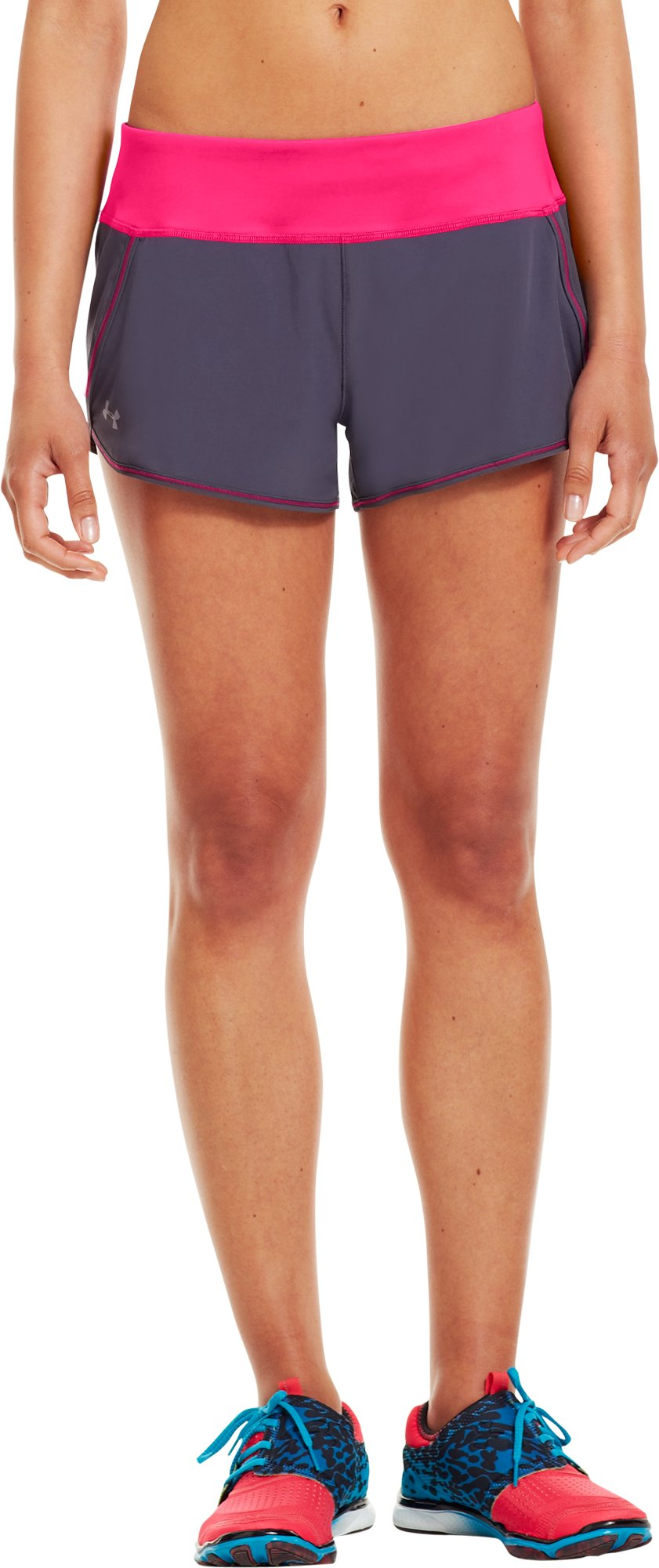 Women's UA Get Set Go Shorts, Lead, undefined