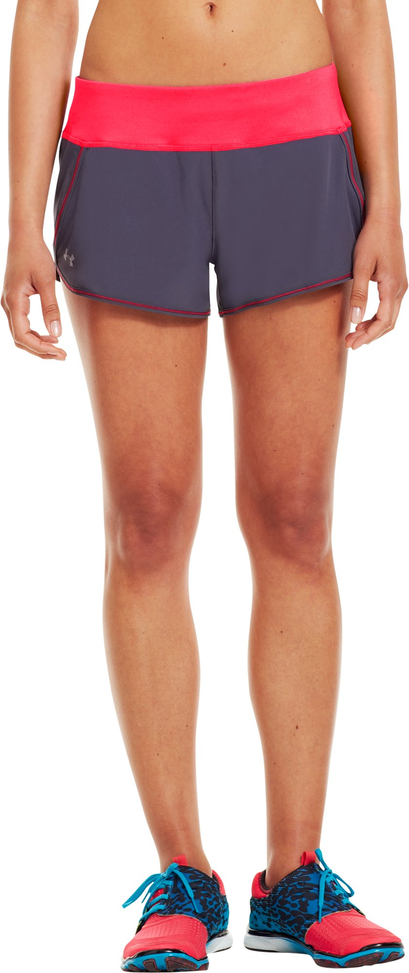 Women's UA Get Set Go Shorts, Lead, zoomed image