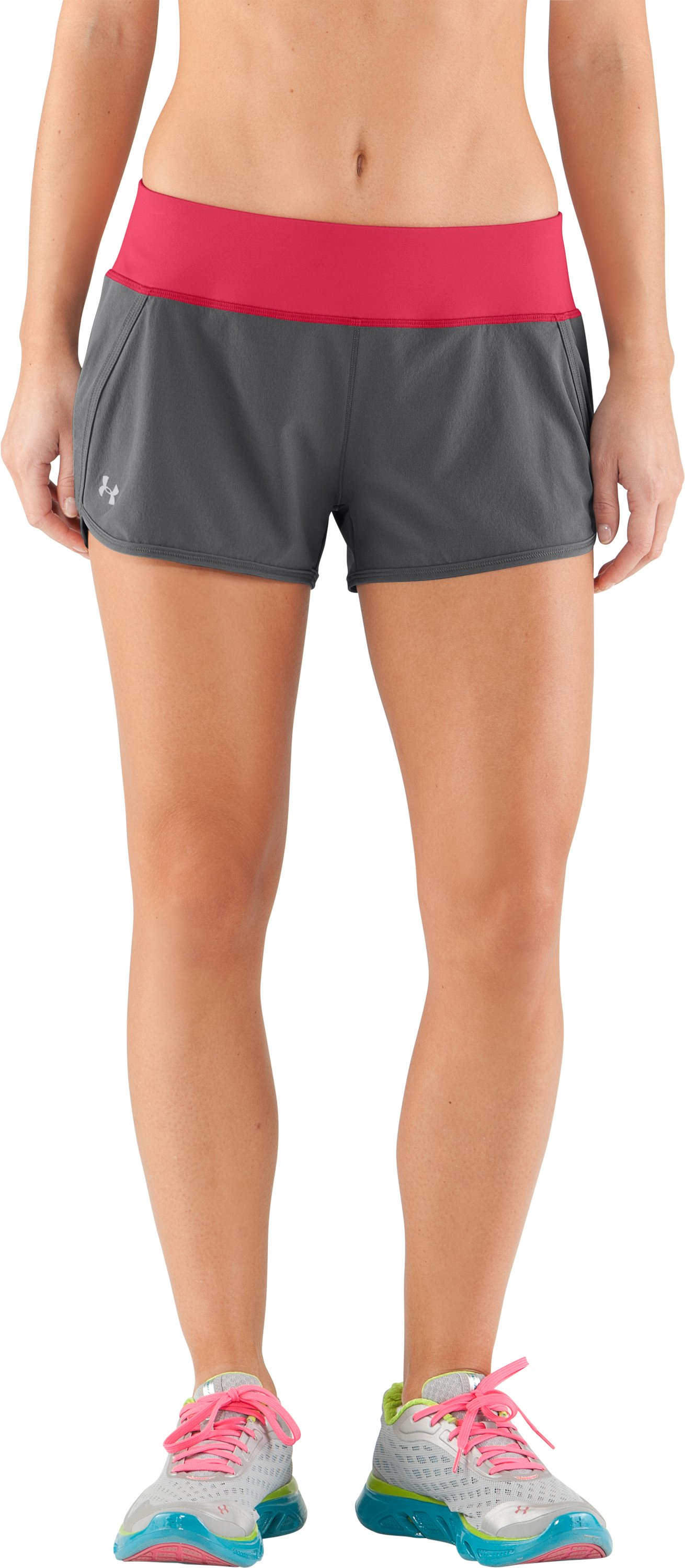 Women's UA Get Set Go Shorts, Graphite, undefined