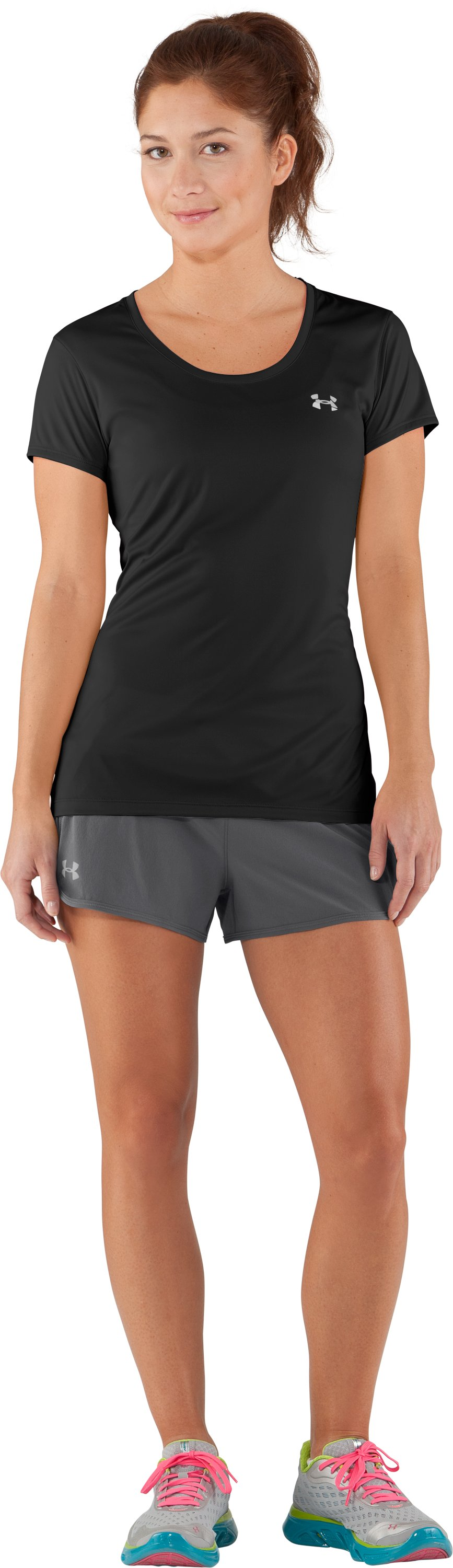 Women's UA Get Set Go Shorts, Graphite, Front
