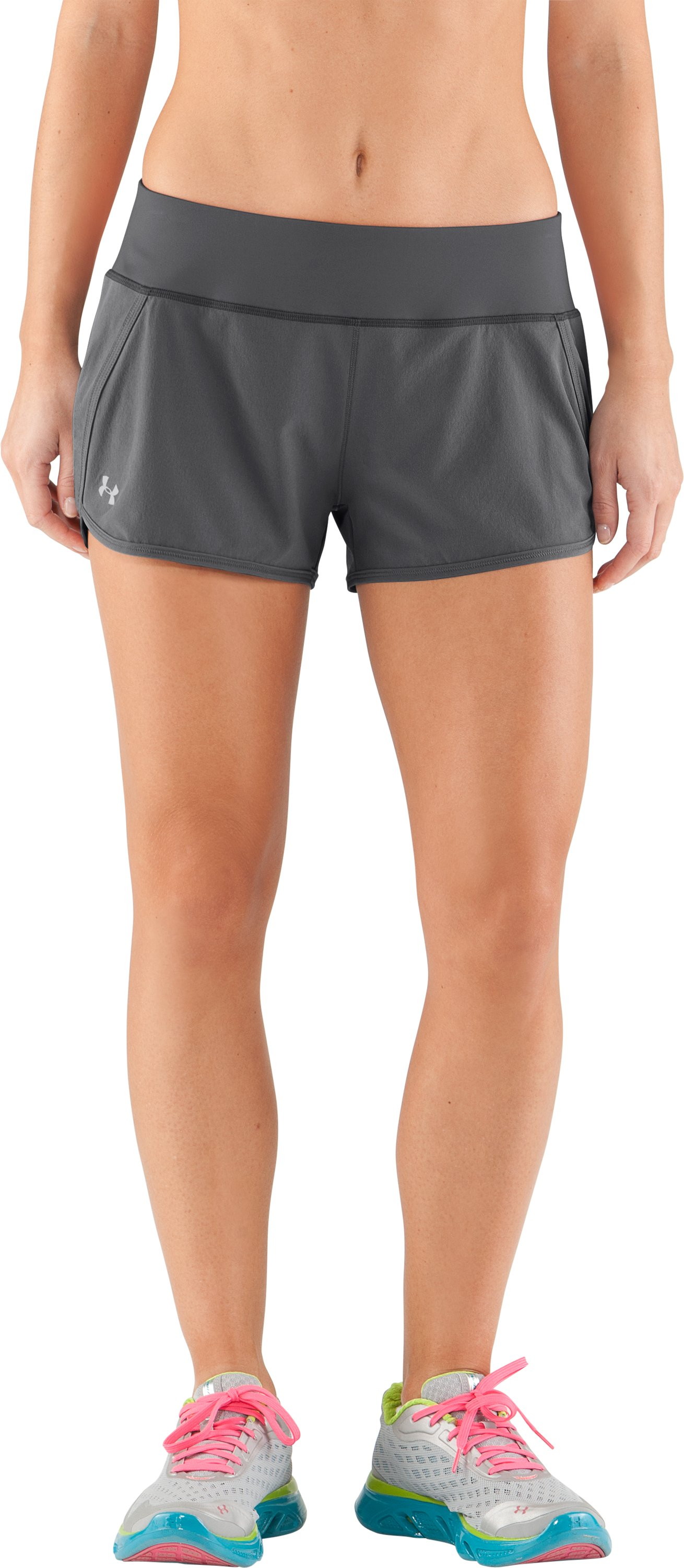 Women's UA Get Set Go Shorts, Graphite, zoomed image