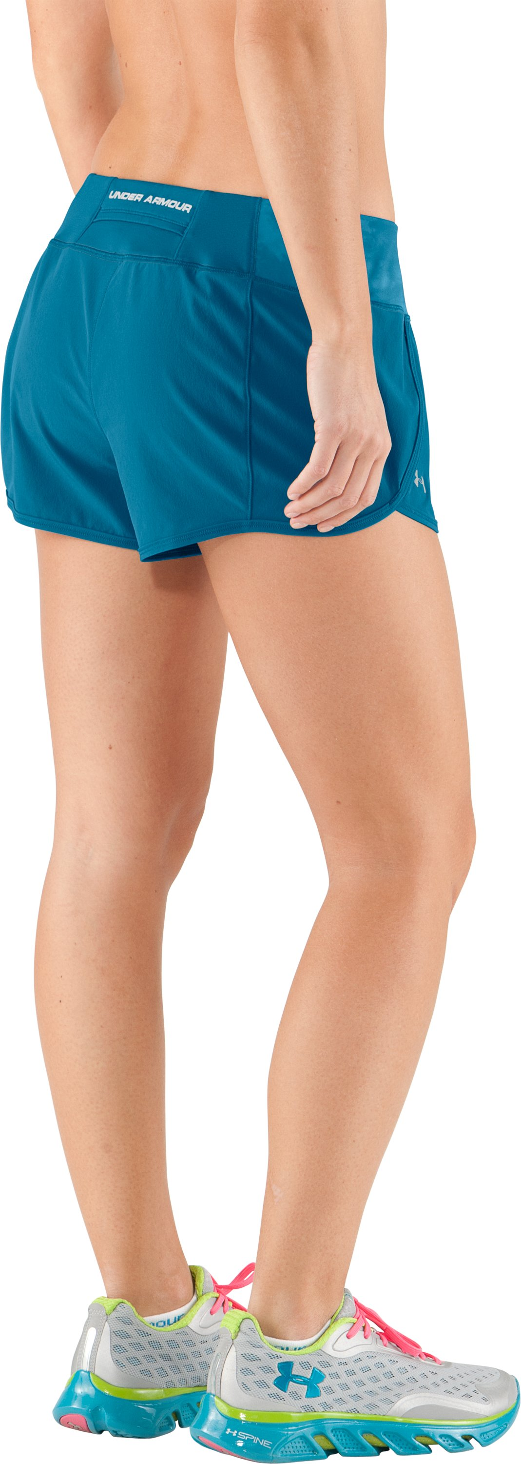 Women's UA Get Set Go Shorts, Deceit