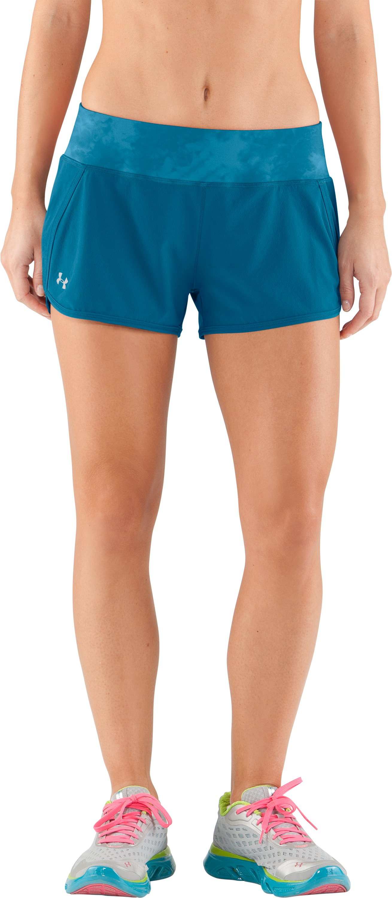 Women's UA Get Set Go Shorts, Deceit, zoomed image