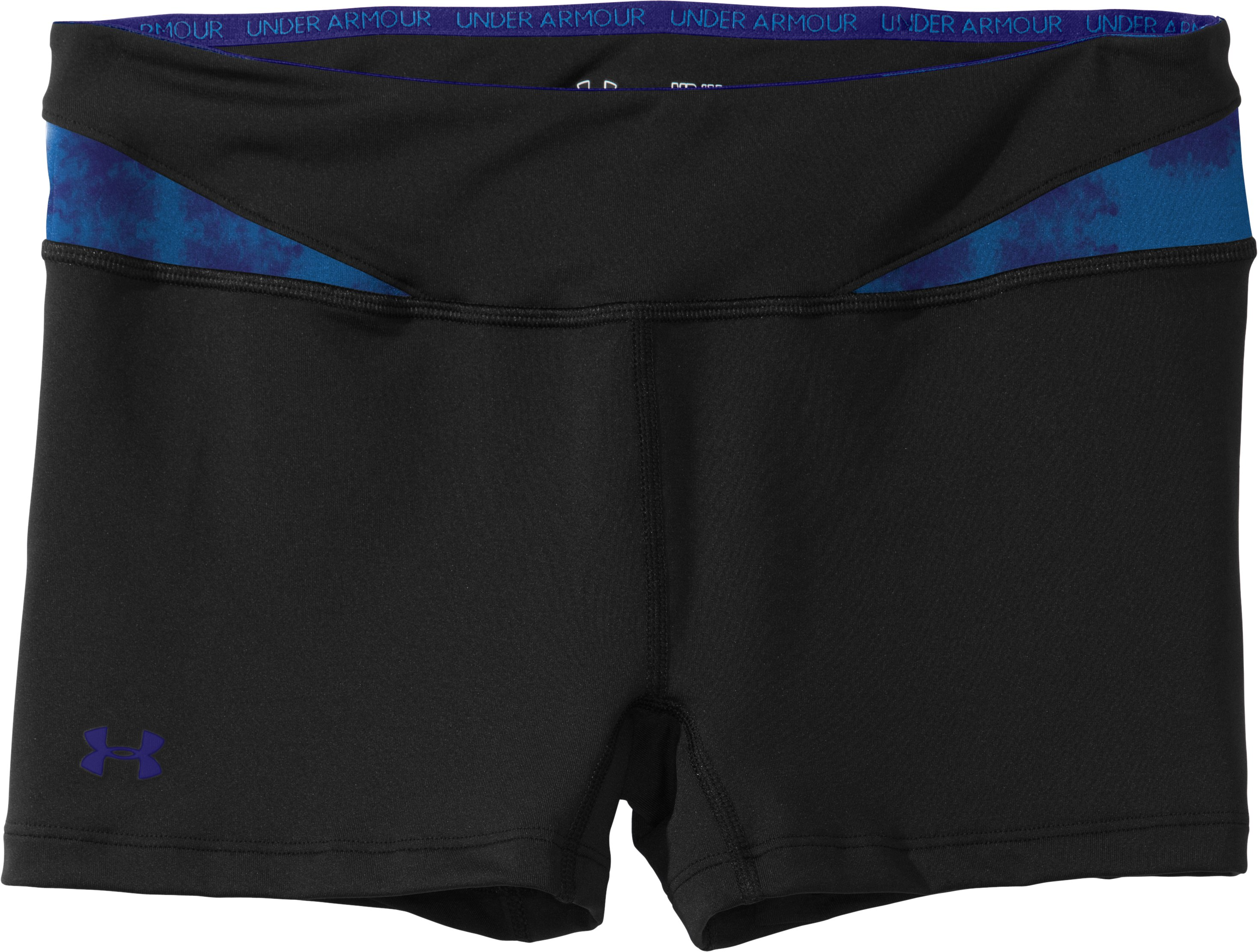 Women's HeatGear® Sonic All-In-One Shorts, Black , Laydown