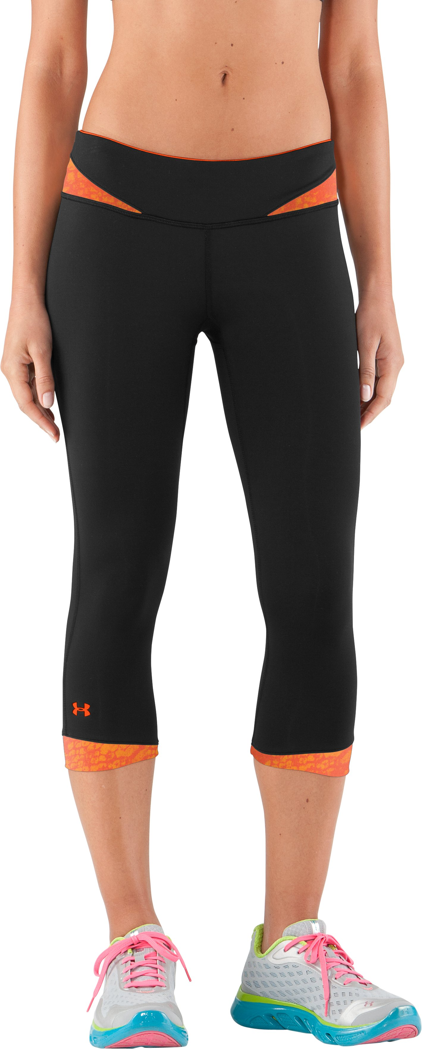 Women's HeatGear® Sonic All-In-One Capri test, Black