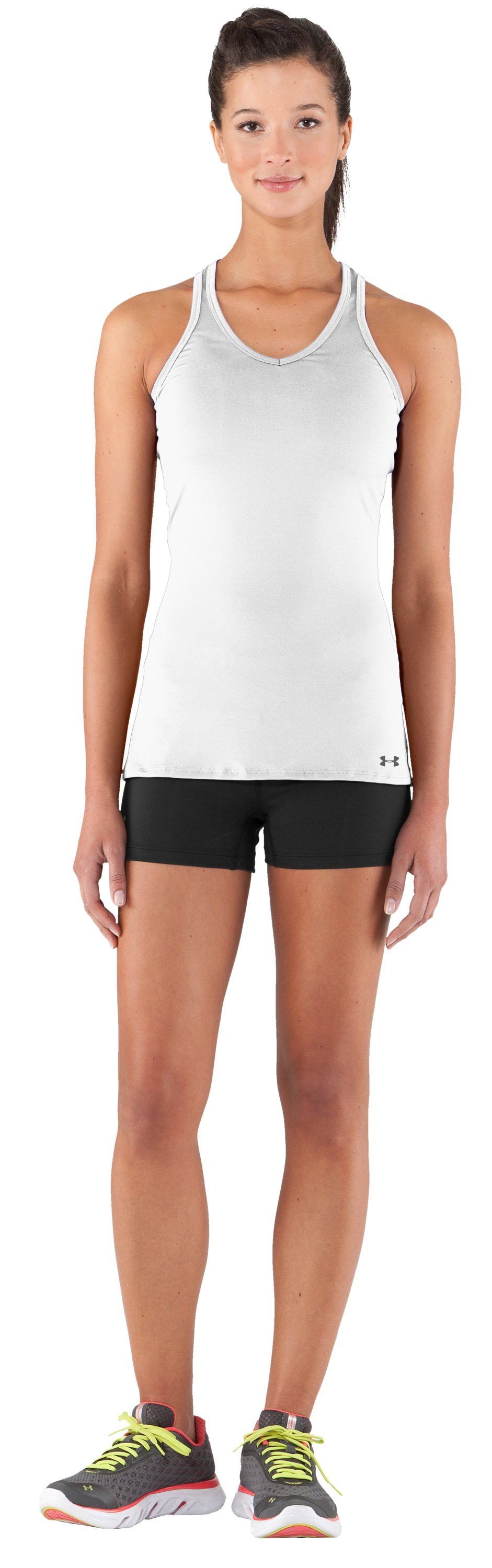 Women's HeatGear® Sonic Tank, White