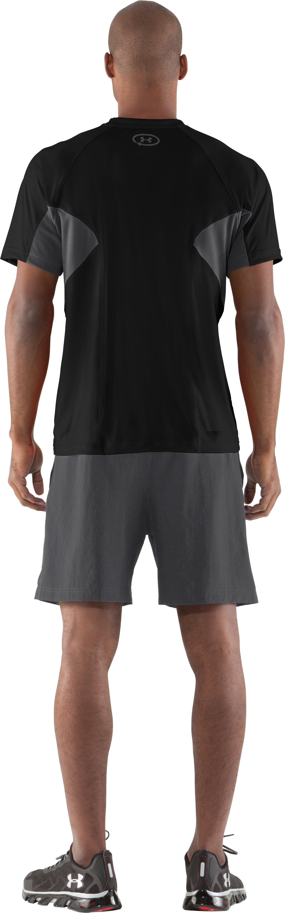Men's UA Catalyst Mesh T-Shirt, Black , Back
