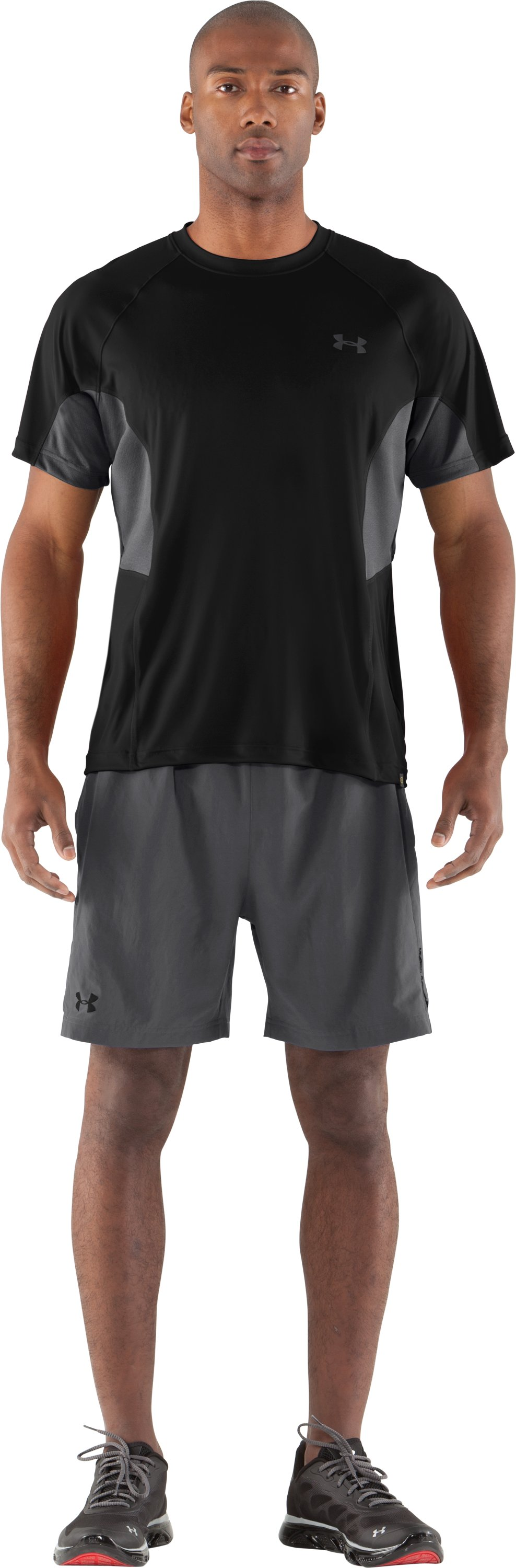 Men's UA Catalyst Mesh T-Shirt, Black , Front
