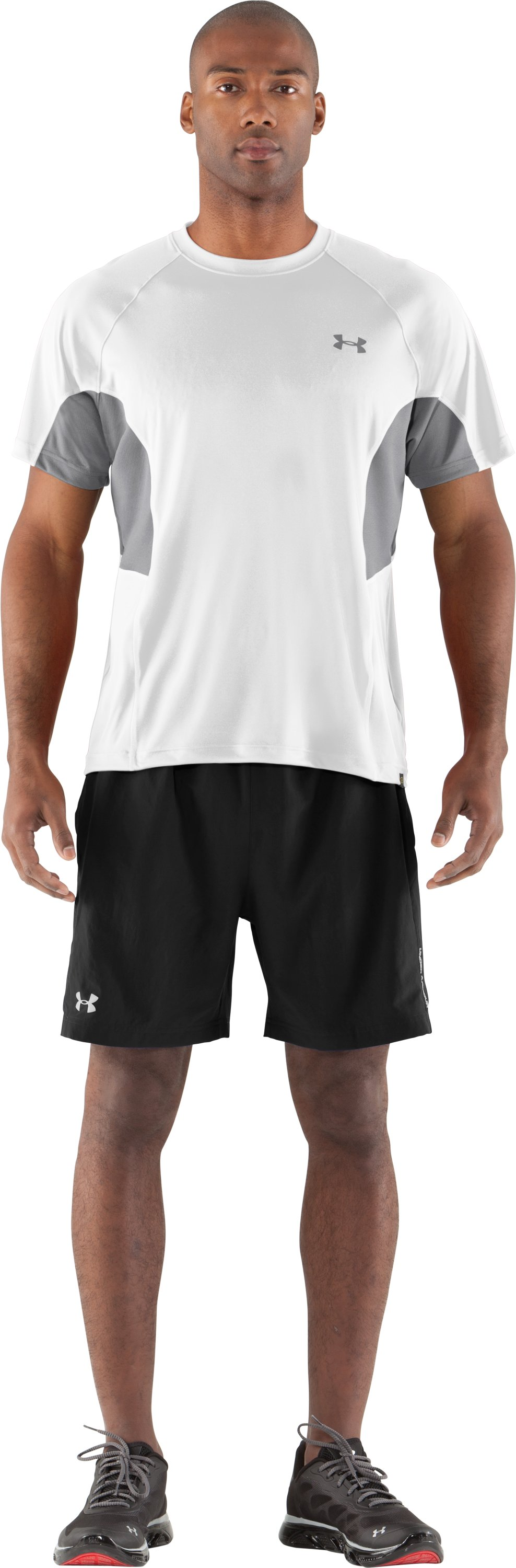Men's UA Catalyst Mesh T-Shirt, White, Front