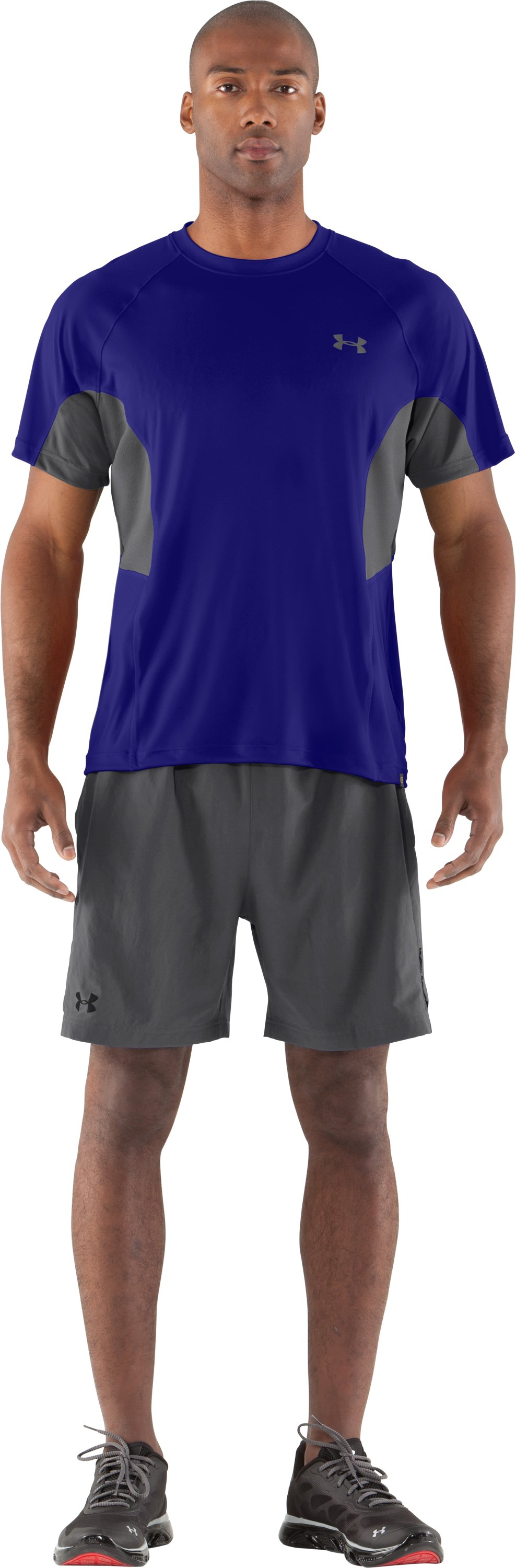 Men's UA Catalyst Mesh T-Shirt, Caspian, Front