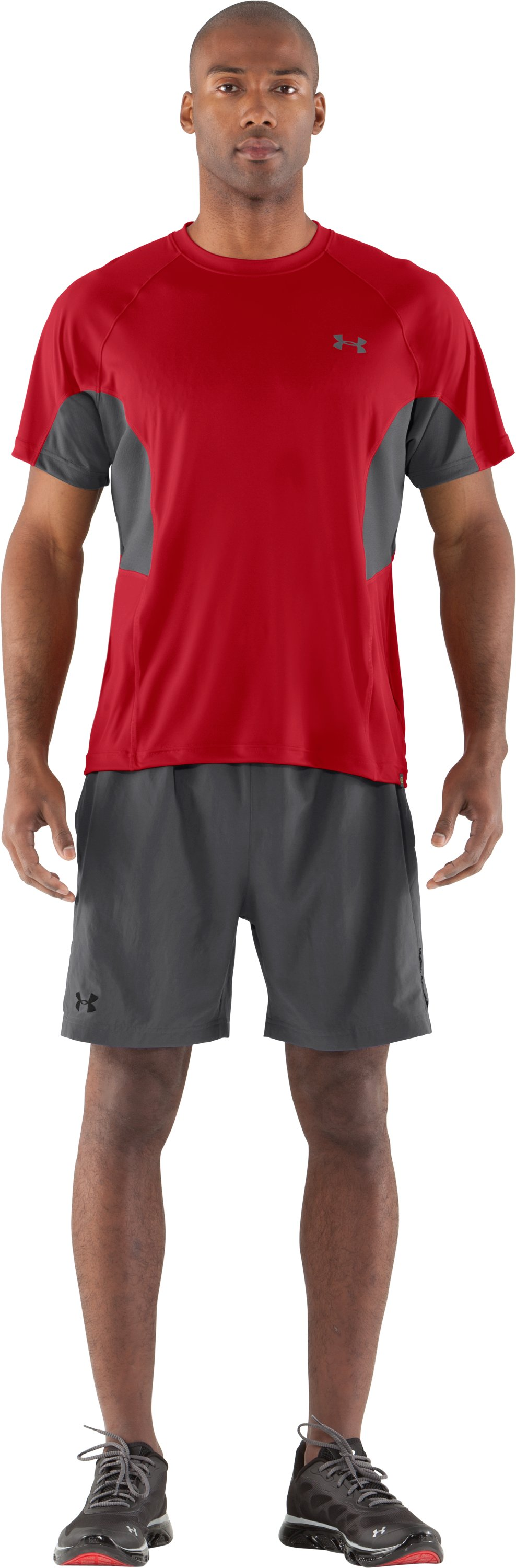 Men's UA Catalyst Mesh T-Shirt, Red, Front