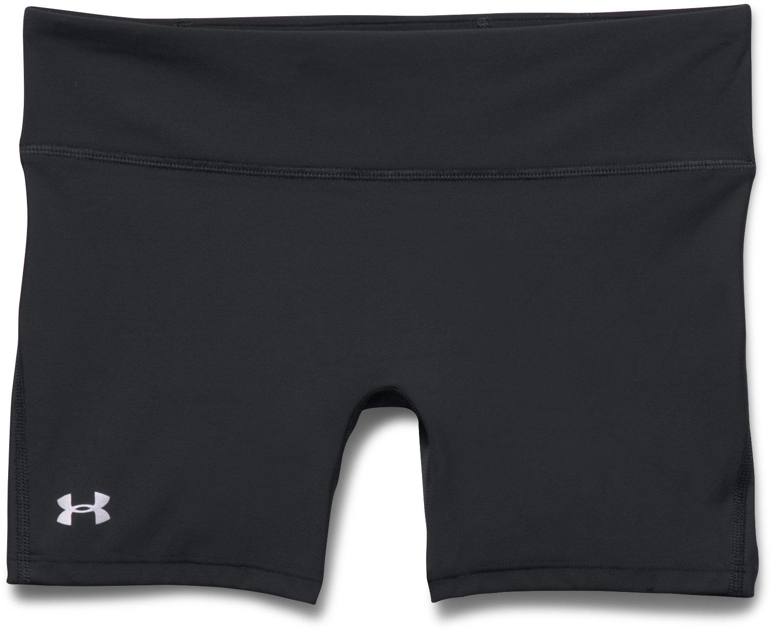 "Women's UA Authentic 4"" Compression Shorts, Black , Laydown"