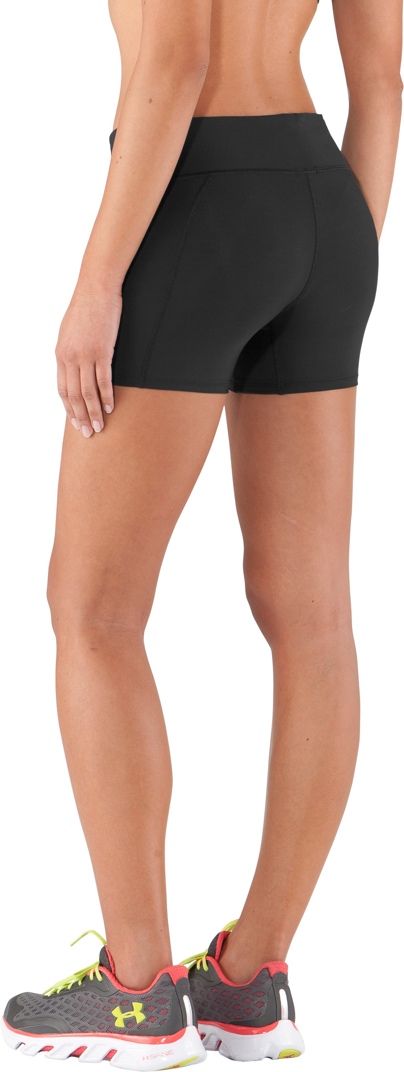 "Women's UA Authentic 4"" Compression Shorts, Black"