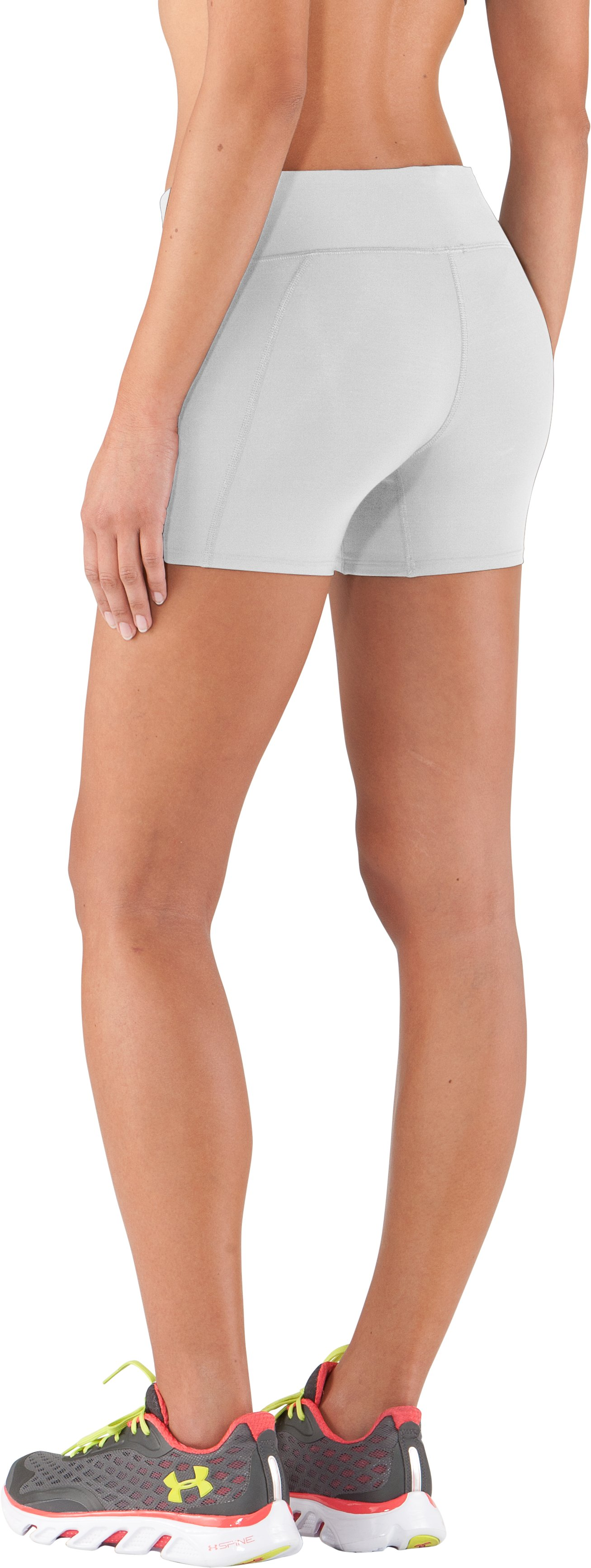 "Women's UA Authentic 4"" Compression Shorts, White"
