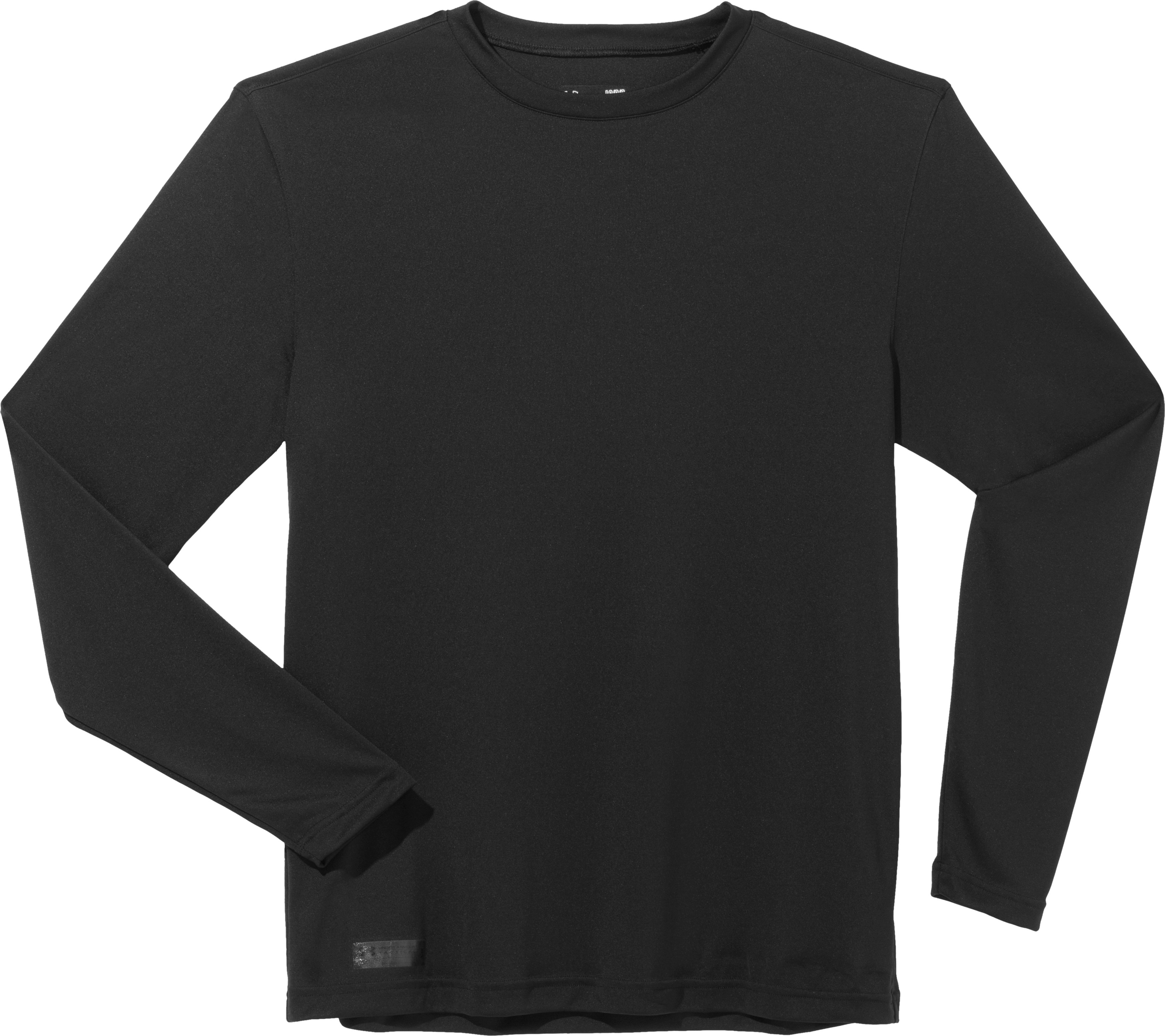Men's HeatGear® Tactical Long Sleeve T-Shirt, Black , Laydown