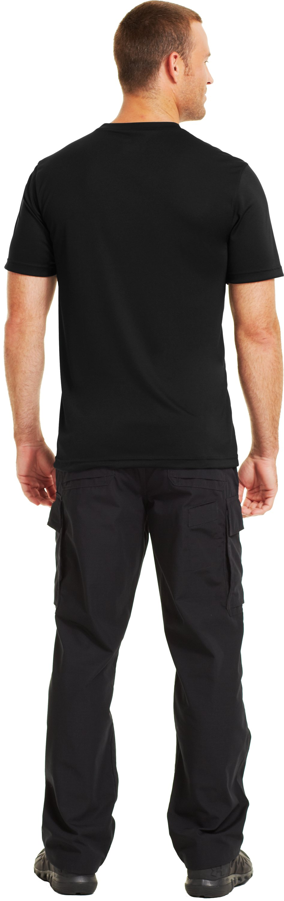 Men's HeatGear® Tactical Short Sleeve T-Shirt, Black , Back