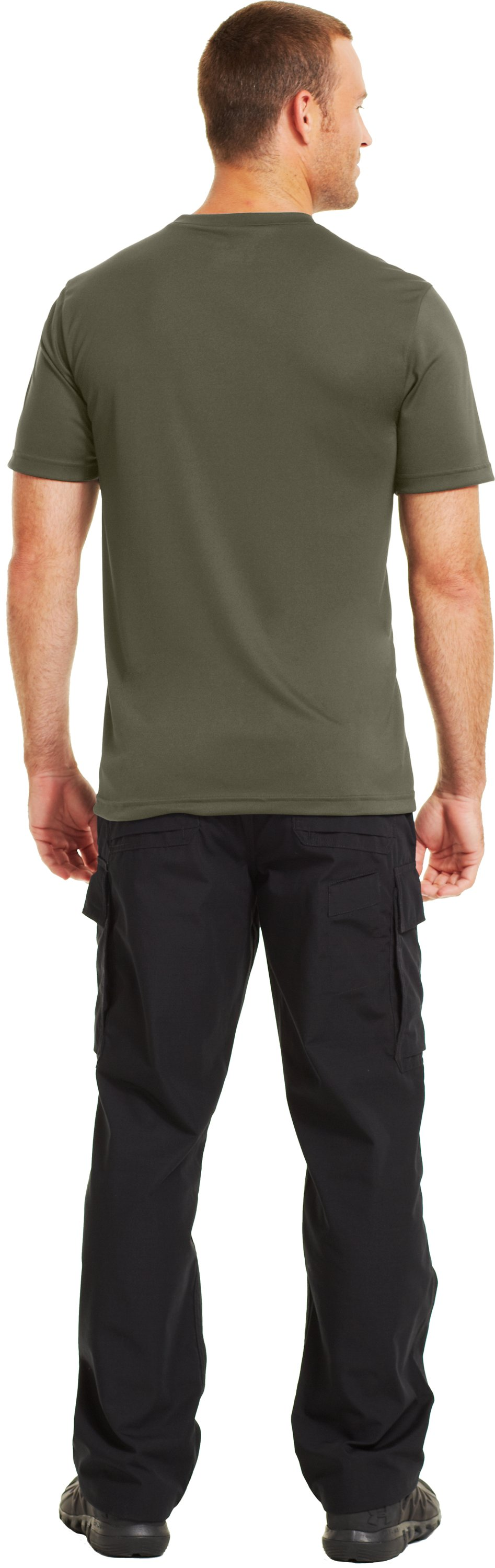 Men's HeatGear® Tactical Short Sleeve T-Shirt, Marine OD Green, Back