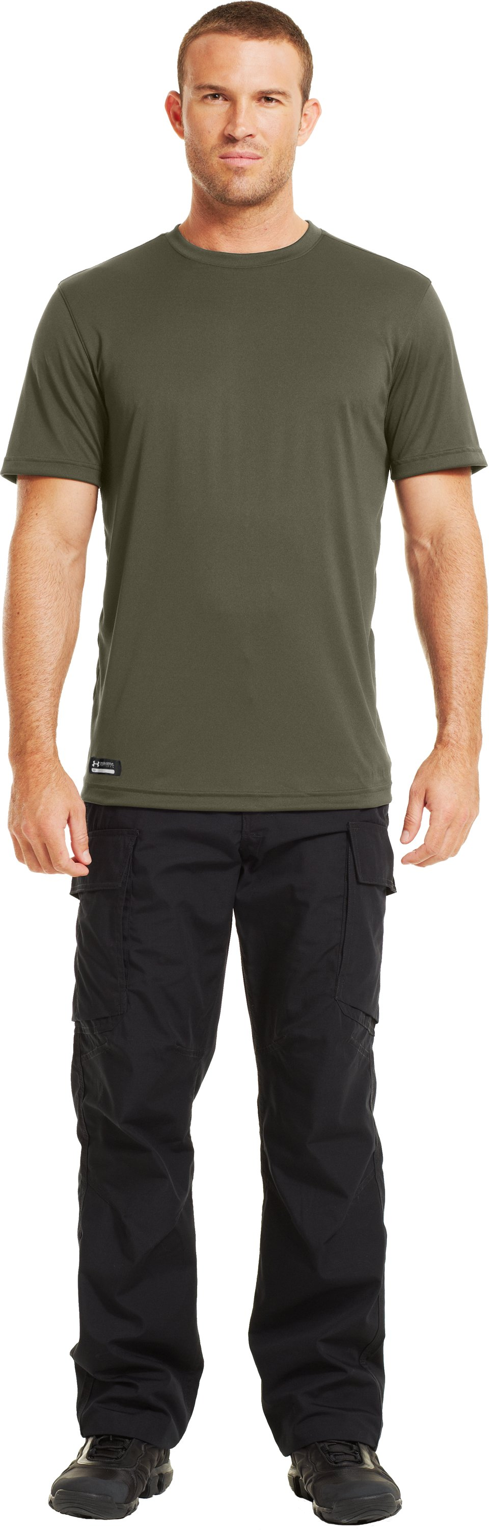 Men's HeatGear® Tactical Short Sleeve T-Shirt, Marine OD Green, Front
