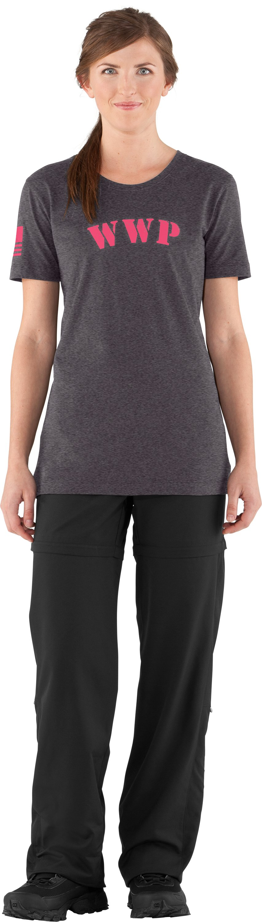 Women's WWP Short Sleeve T-Shirt, Carbon Heather, Front