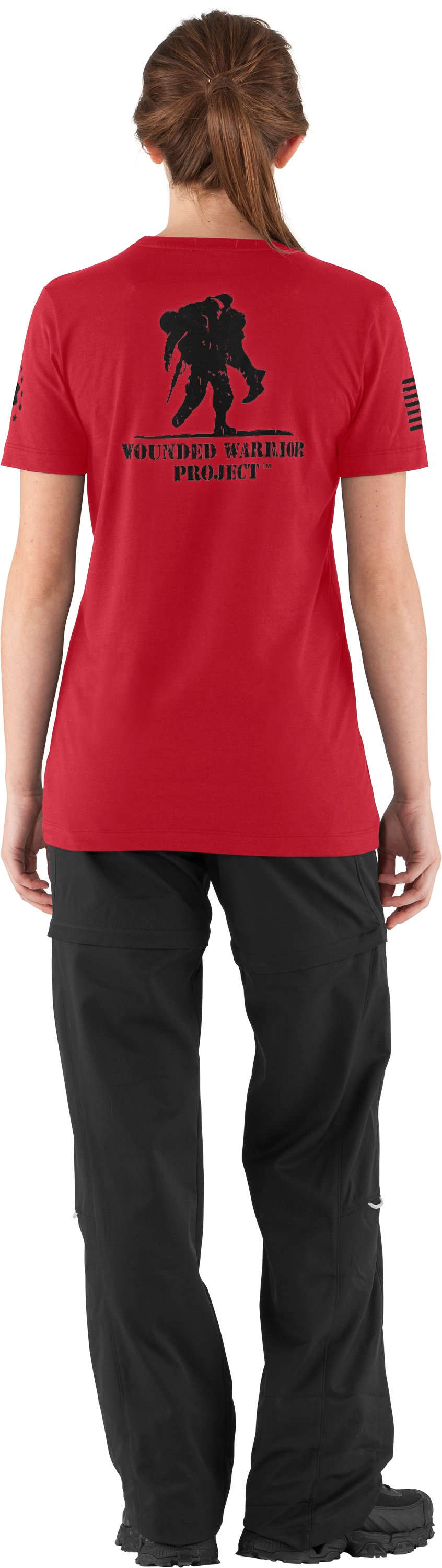 Women's WWP Short Sleeve T-Shirt, Red, Back