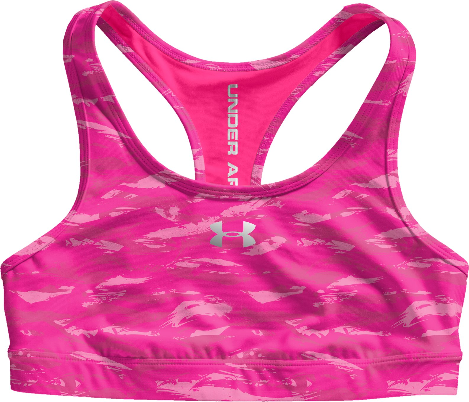 Women's HeatGear® Sonic Reversible Bra, Cerise, Laydown