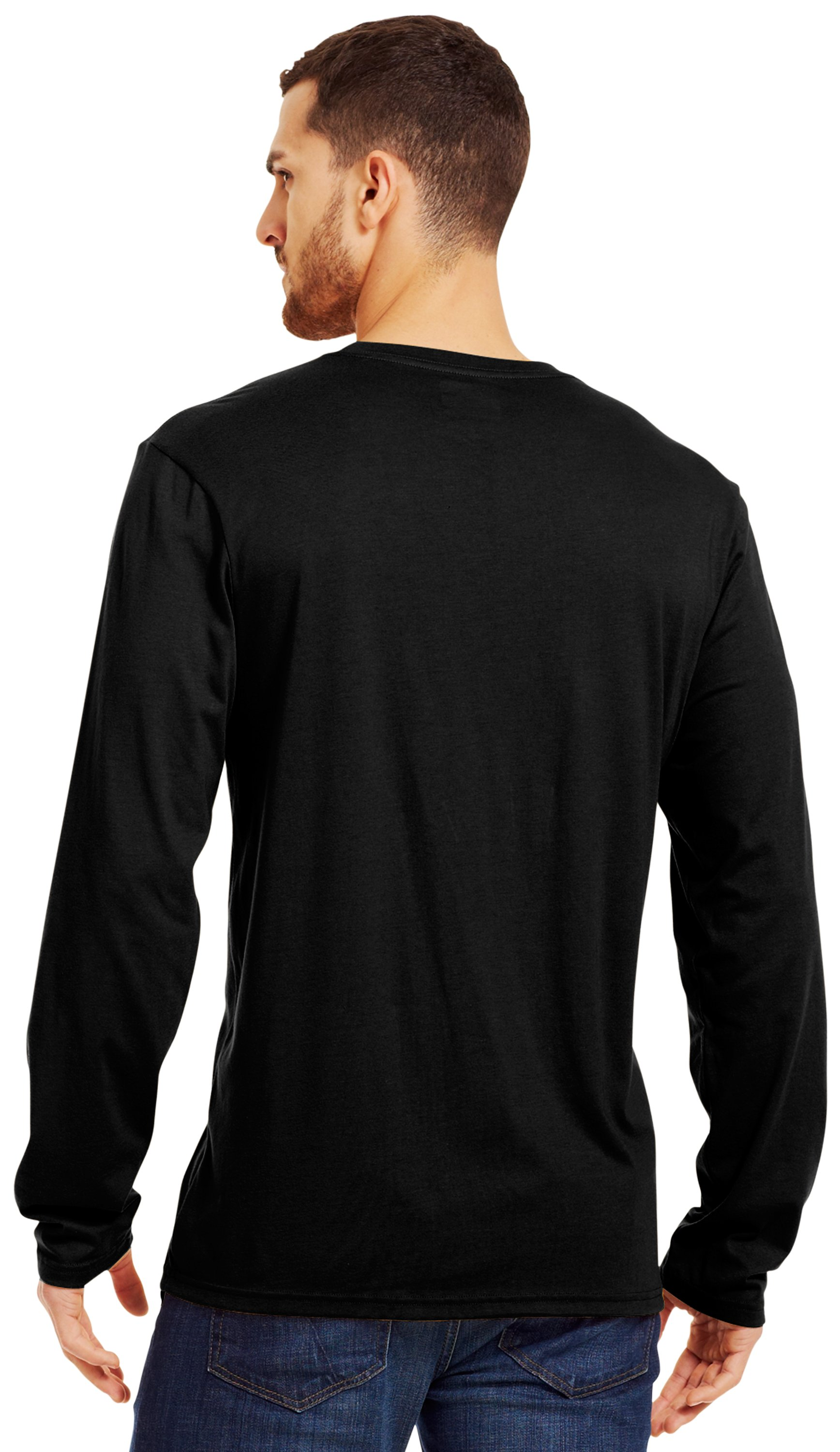 Men's UA Antler Long Sleeve T-Shirt, Black , Back