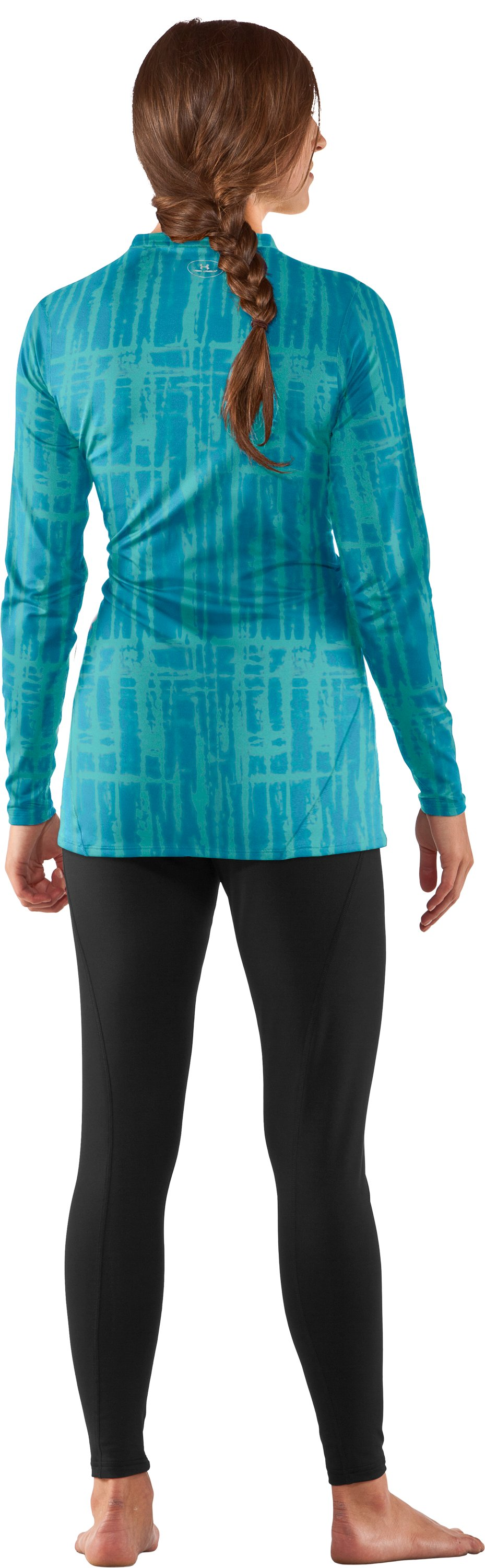 Women's UA ColdGear® Printed Fitted Long Sleeve, Break, Back