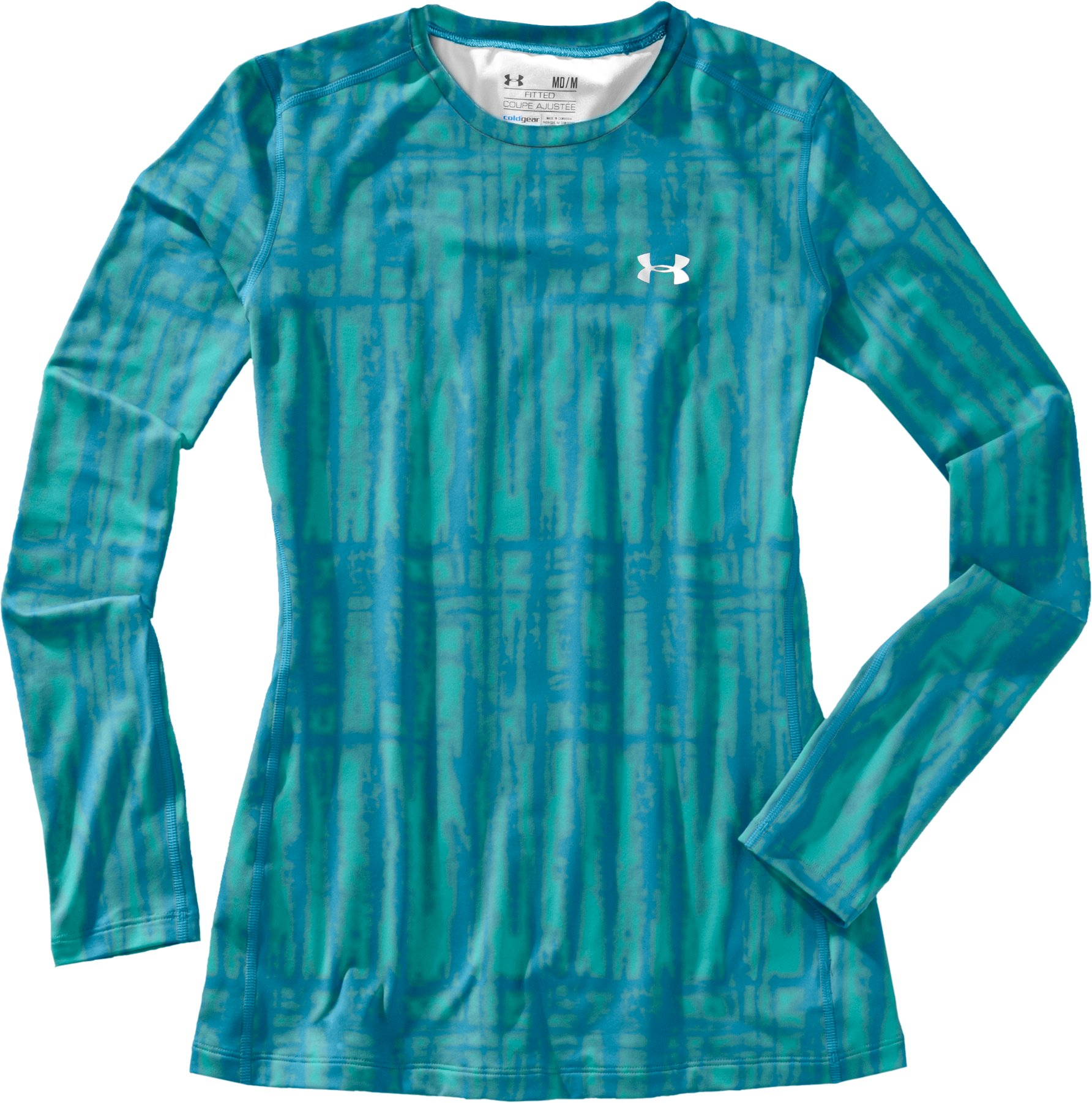 Women's UA ColdGear® Printed Fitted Long Sleeve, Break, Laydown
