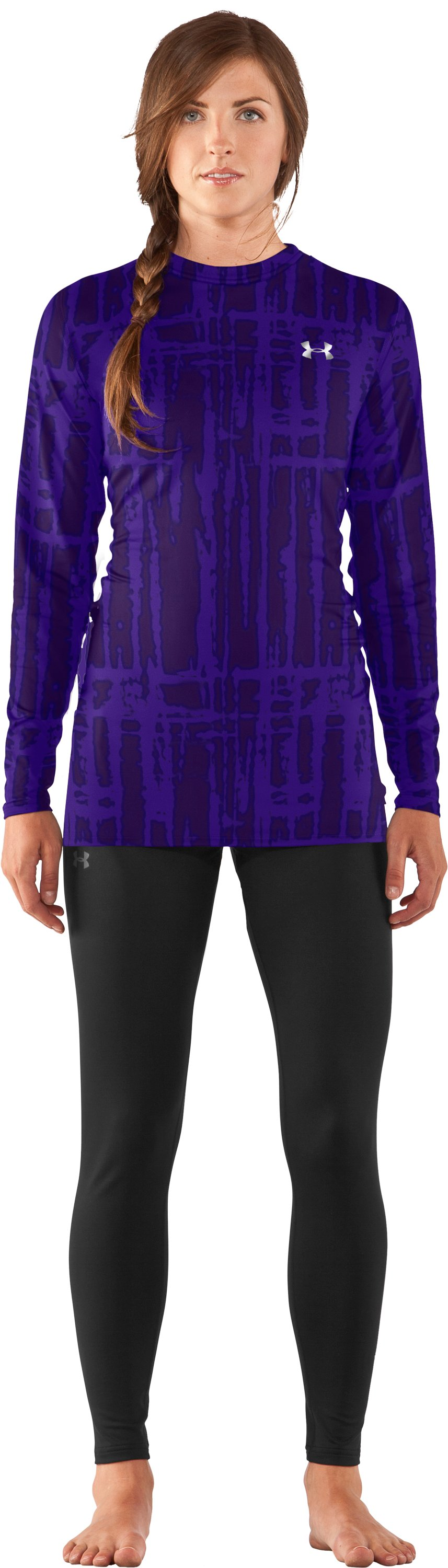 Women's UA ColdGear® Printed Fitted Long Sleeve, Pluto