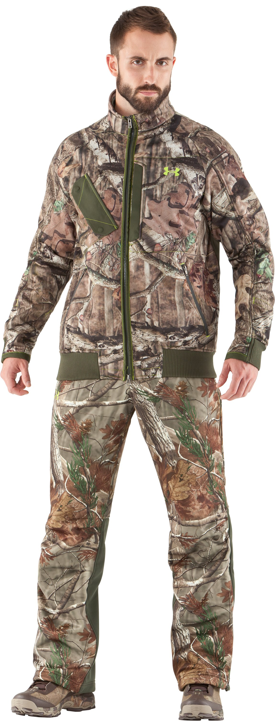 Men's UA Deadcalm Scent Control Pants, Realtree AP, zoomed image