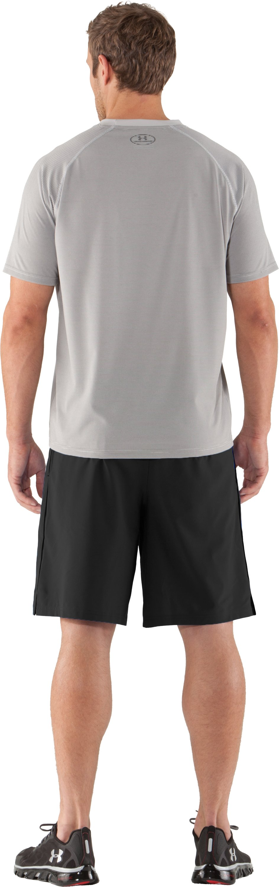 Men's UA Tech™ Microstripe T-Shirt, Aluminum, Back