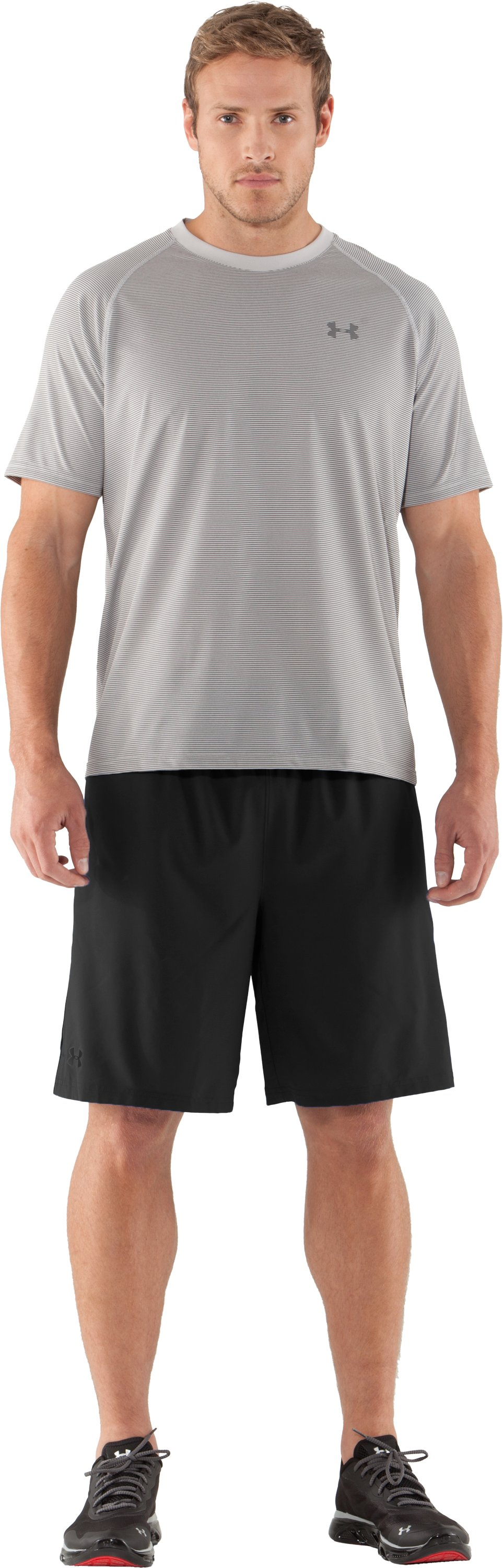 Men's UA Tech™ Microstripe T-Shirt, Aluminum